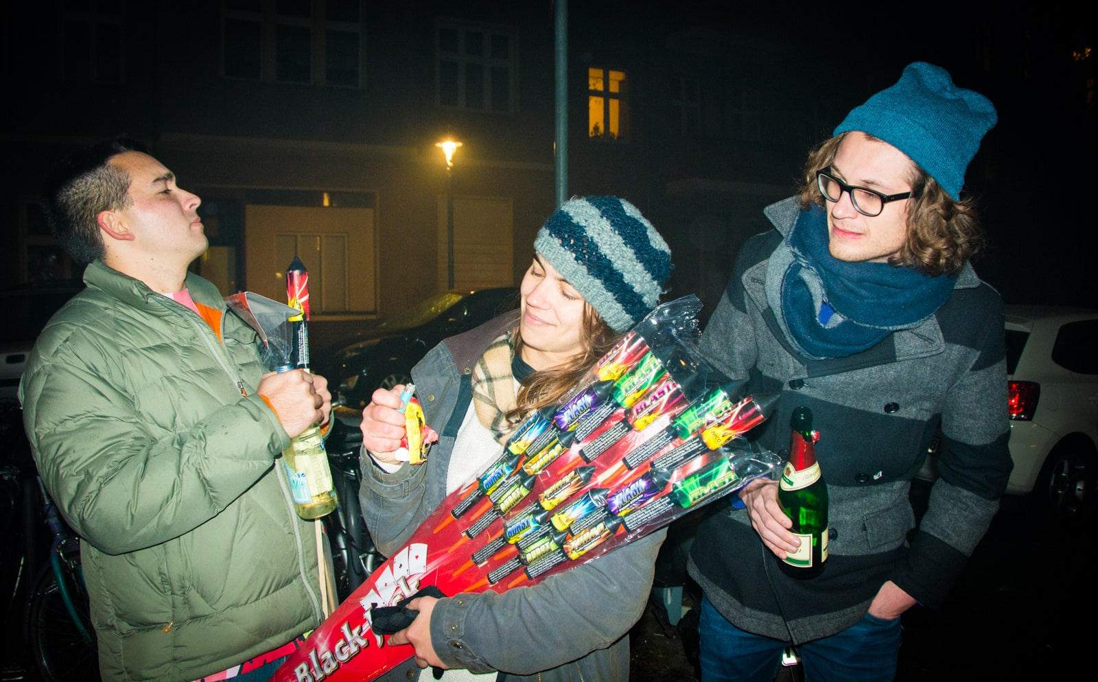 Drinking on street in Berlin to save money
