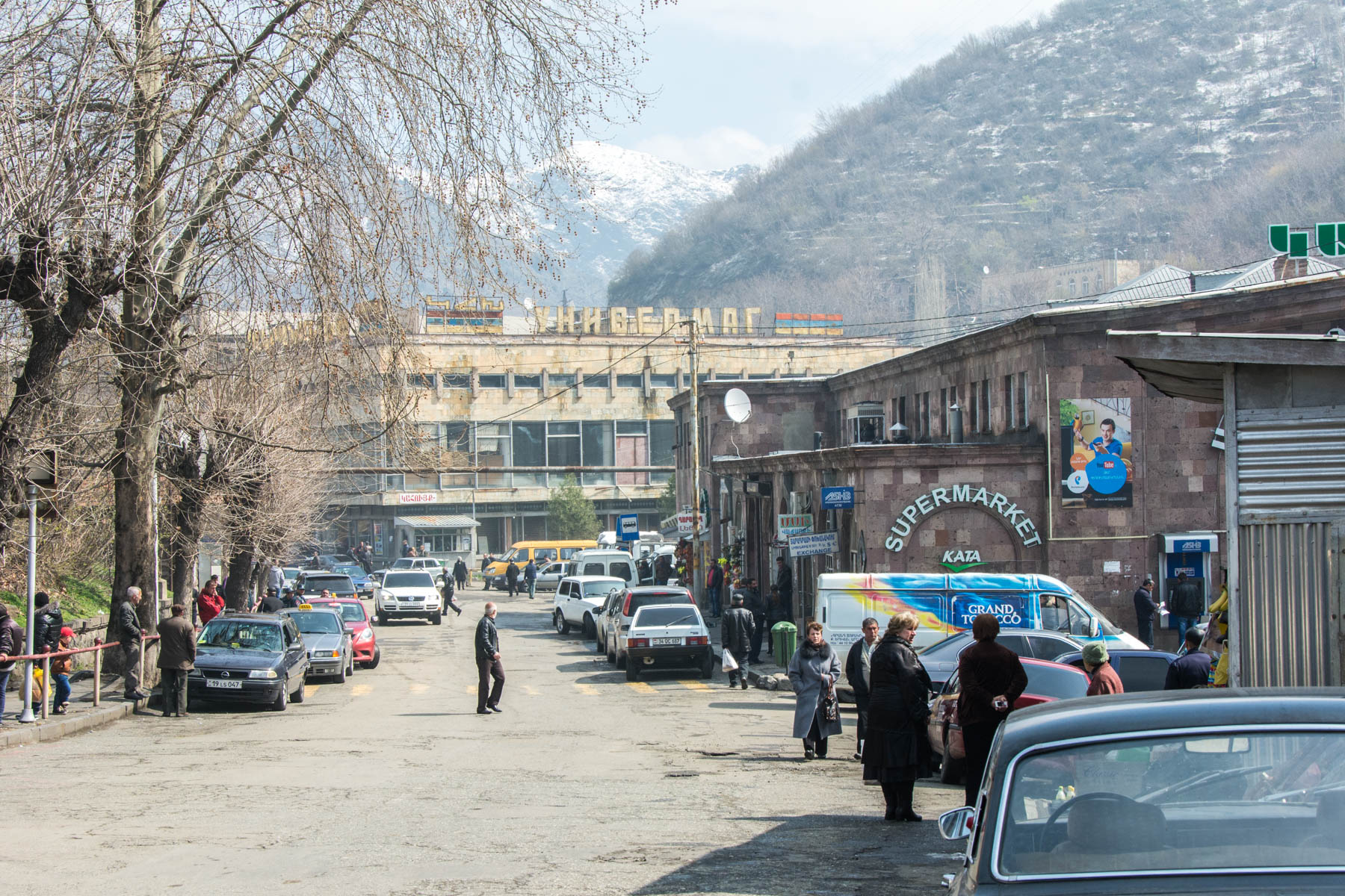 Alaverdi central bus and marshrutka station.