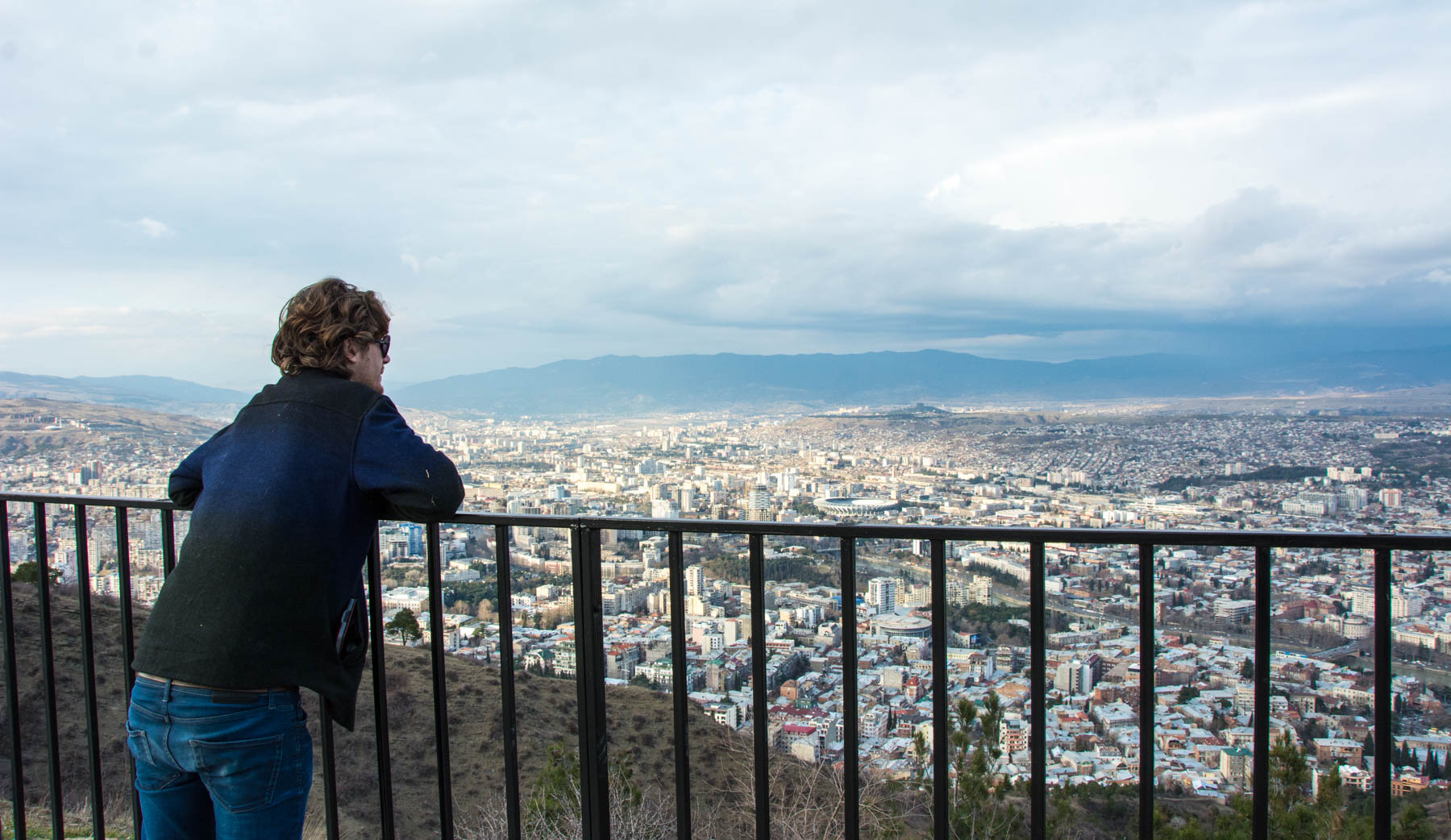 View of Tbilisi from Mtatsminda park and the Funicular