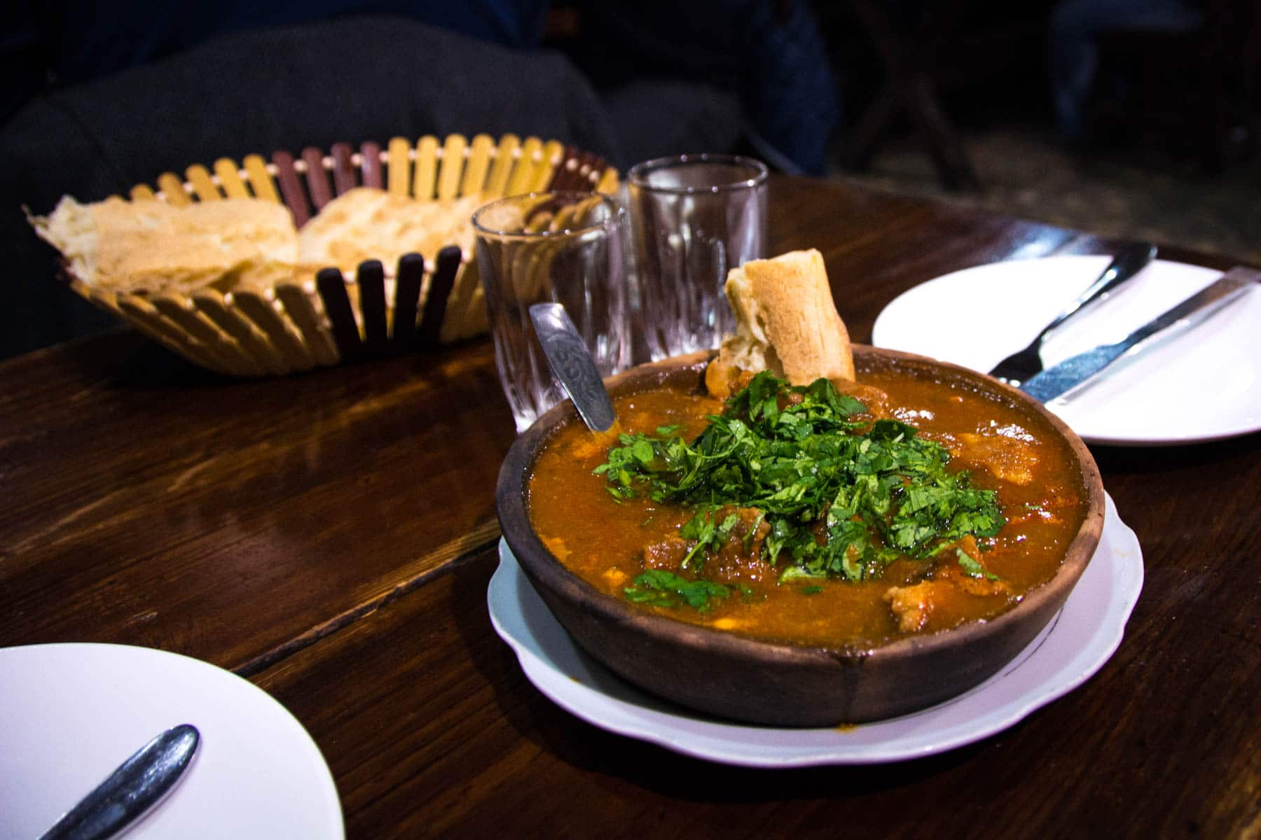 Veal stew in Tbilisi, Georgia