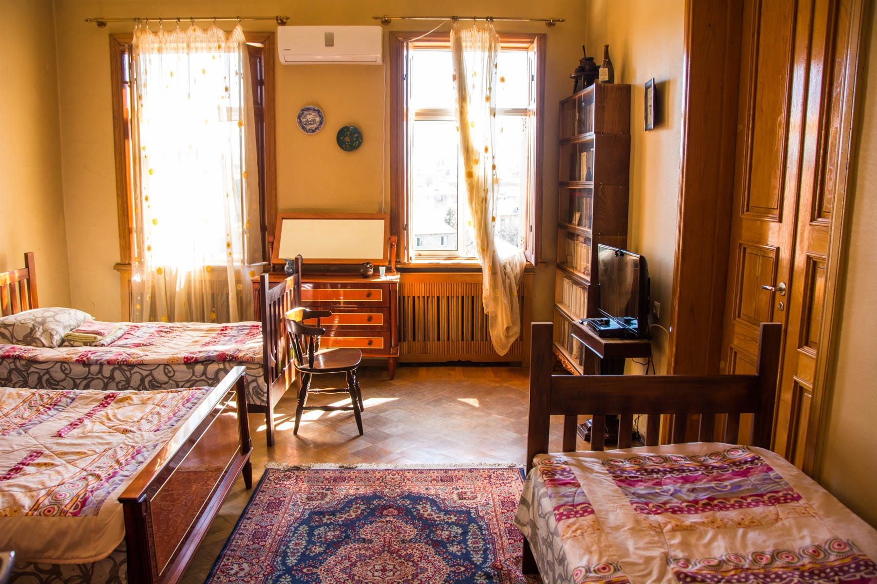 Interior of a room at Sun Hostel Guesthouse in Kutaisi, Georgia