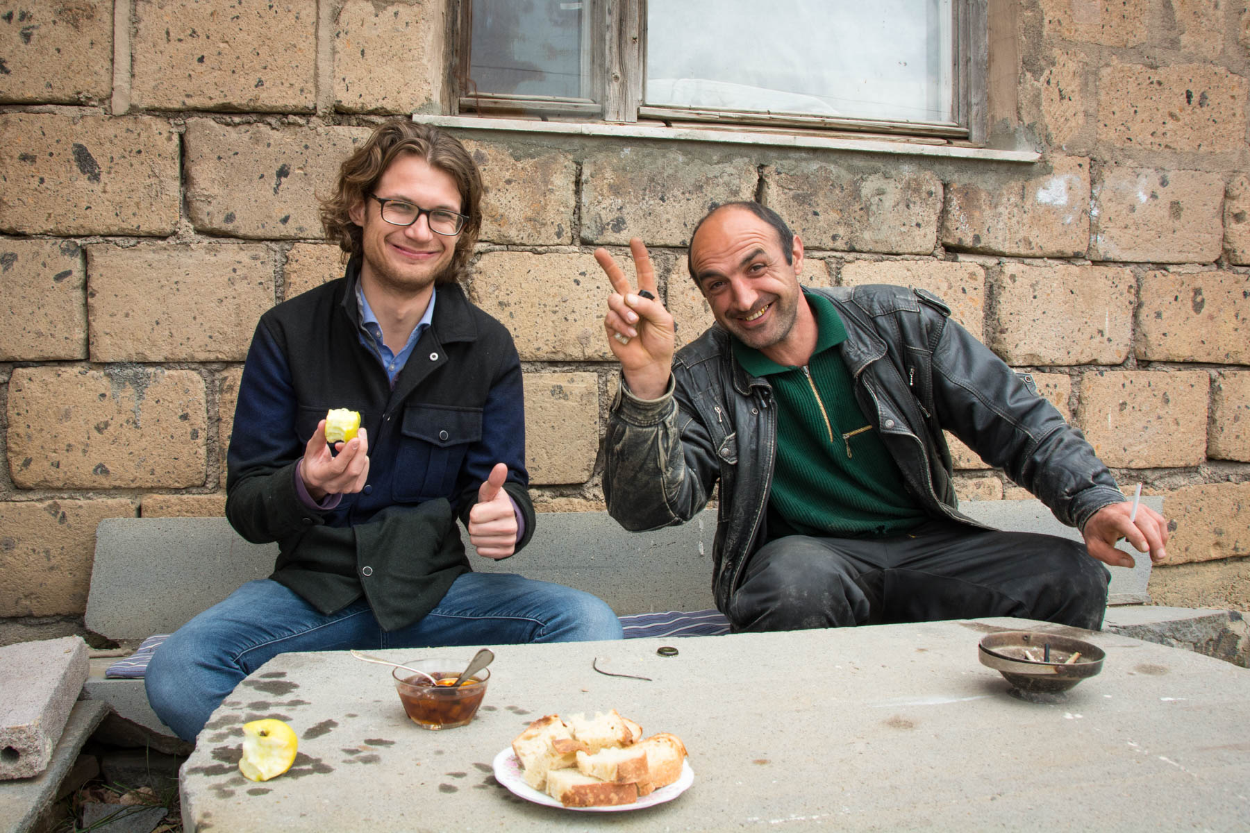 Chilling with a friendly Armenian man in Yeghegnadzor, Armenia - Lost With Purpose