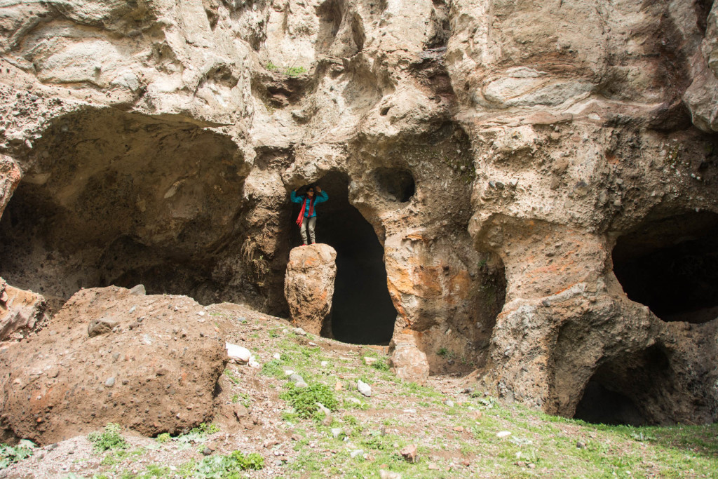 How to get to Tatev from Goris, Armenia - Checking out the caves in Old Goris in Goris, Armenia