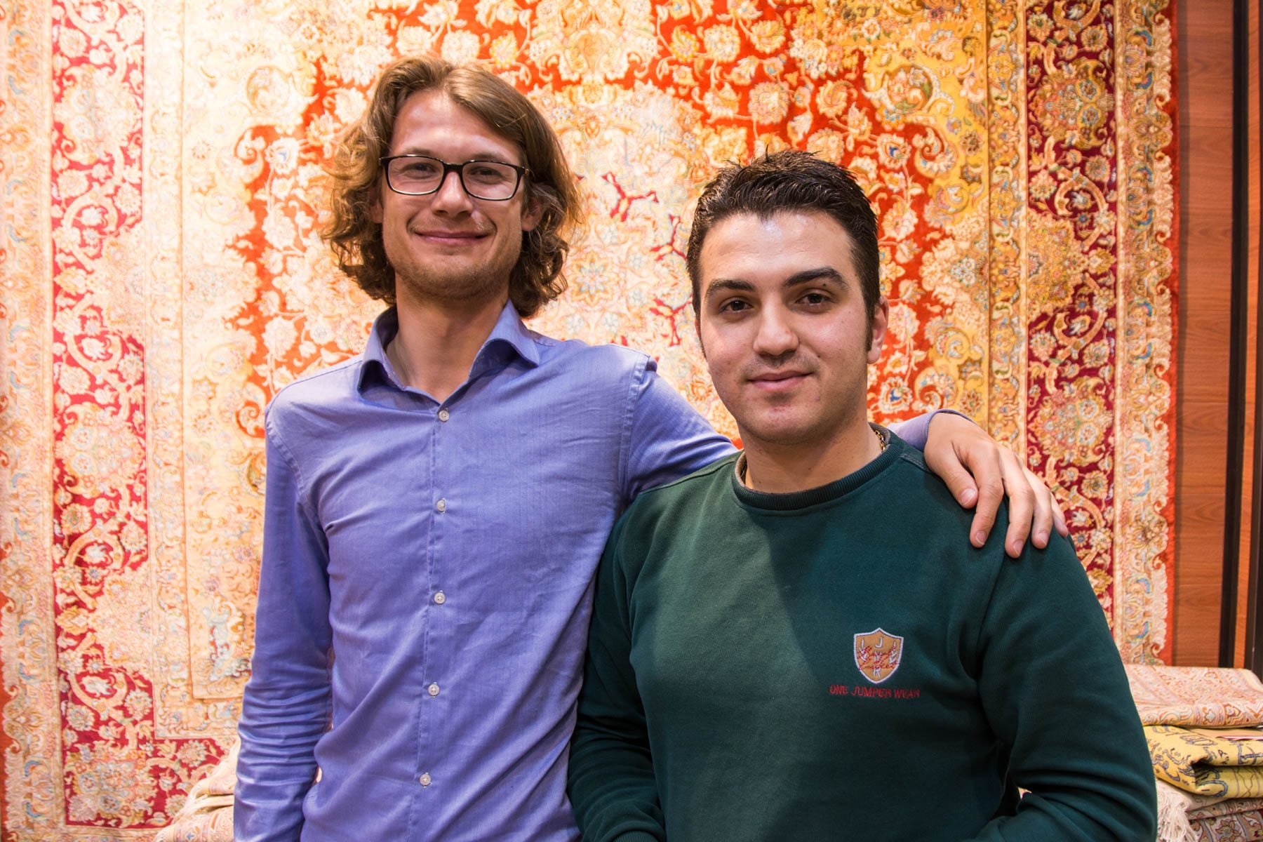 Sebastiaan and Bezhat, a local Tabrizian that made us feel welcome to Tabriz.