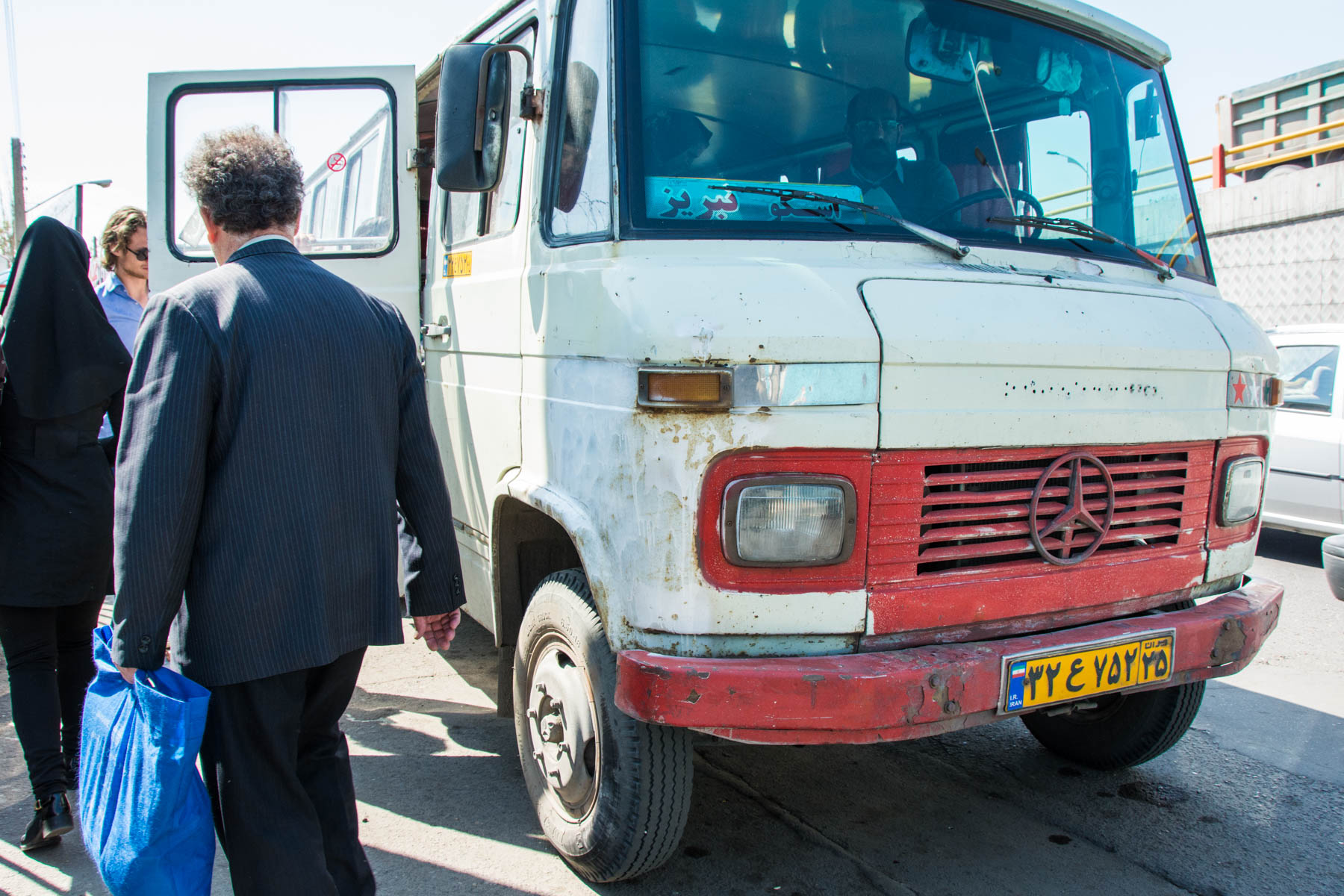 The minibus that is essential for getting to Kandovan from Tabriz