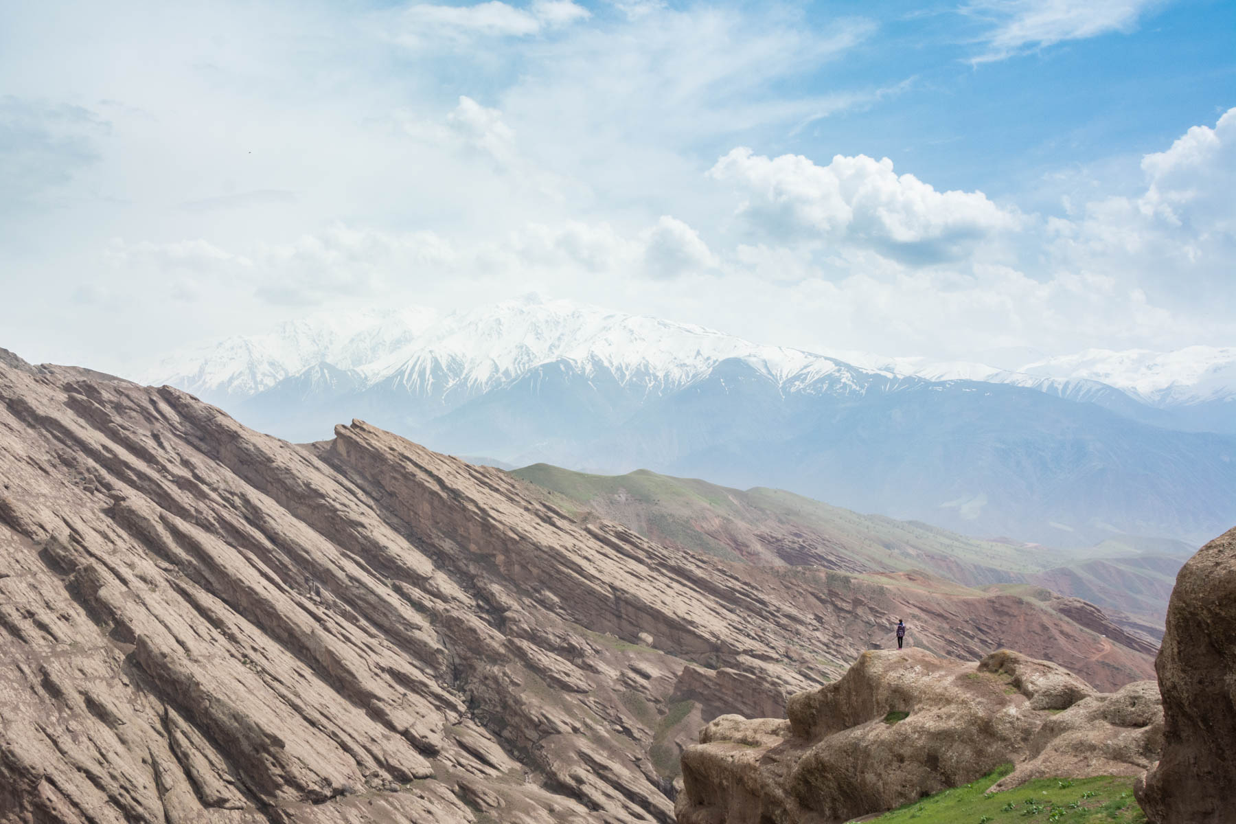 Rock formations in the Alamut Valley in northern Iran.