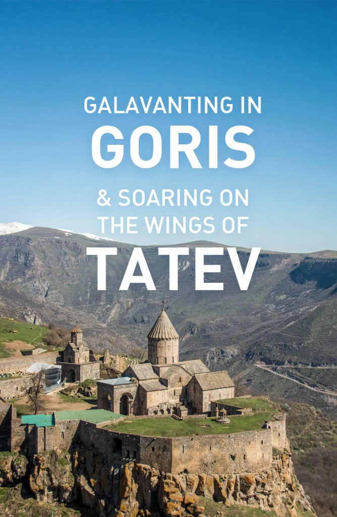 A romp through the rocky spires of Old Goris in southern Armenia, and a trip to the famous Tatev monastery. Includes information on how to get to Tatev from Goris
