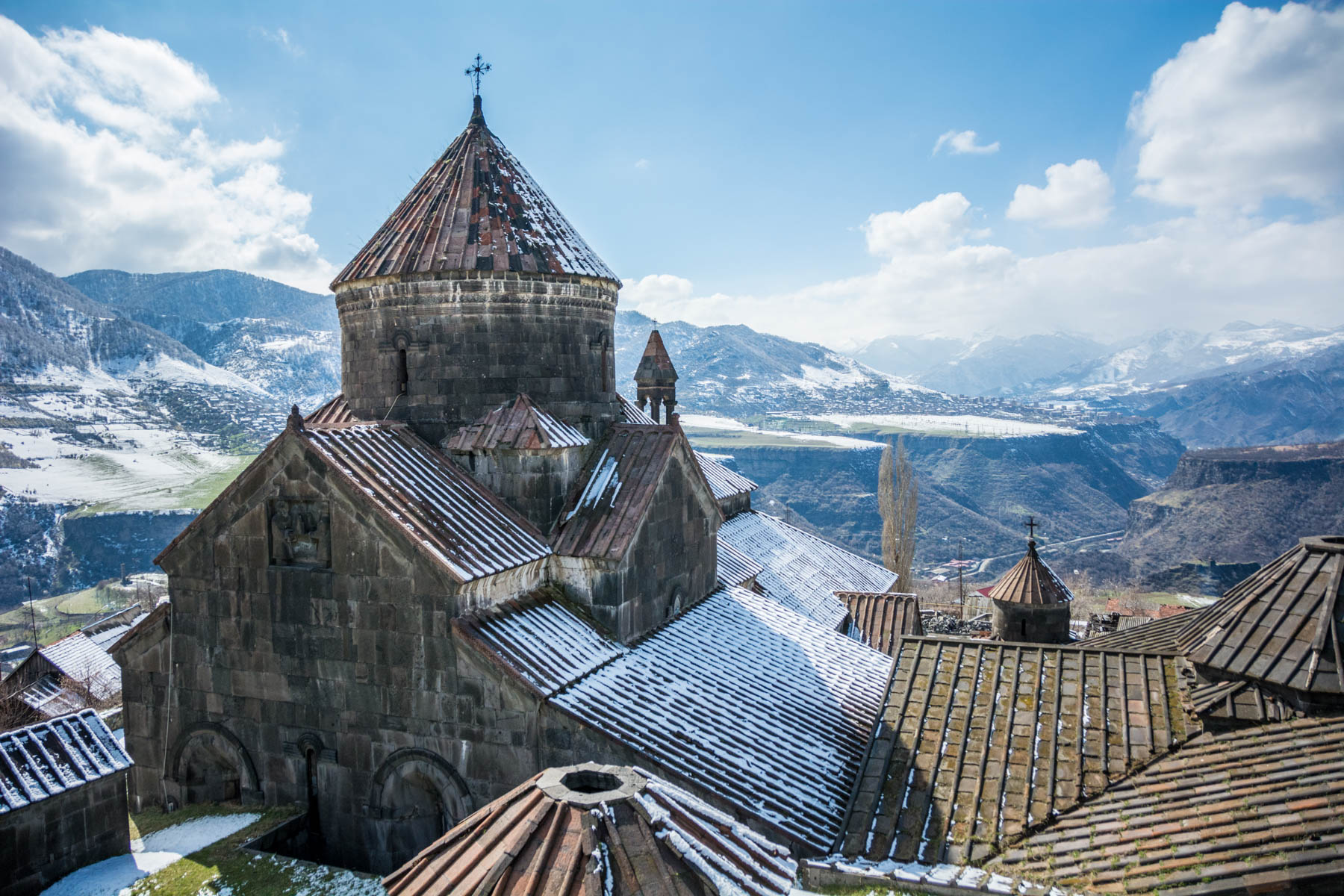 Why visit Armenia: The view from the bell tower of Haghpat monastery in Alaverdi, Armenia.