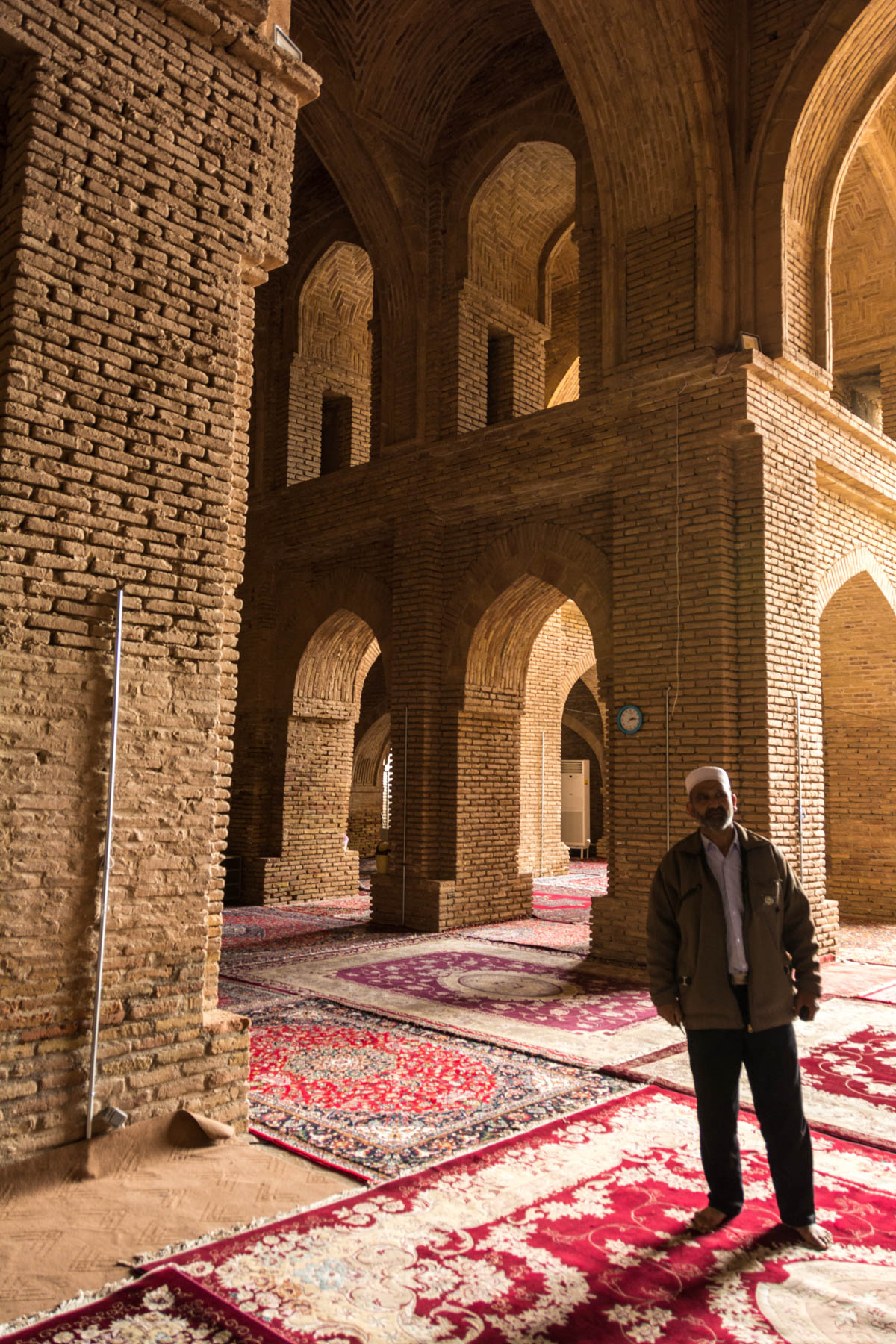 "The interior of the ""new"" mosque portion of the Jami mausoleum in Torbat-e Jam, Iran."