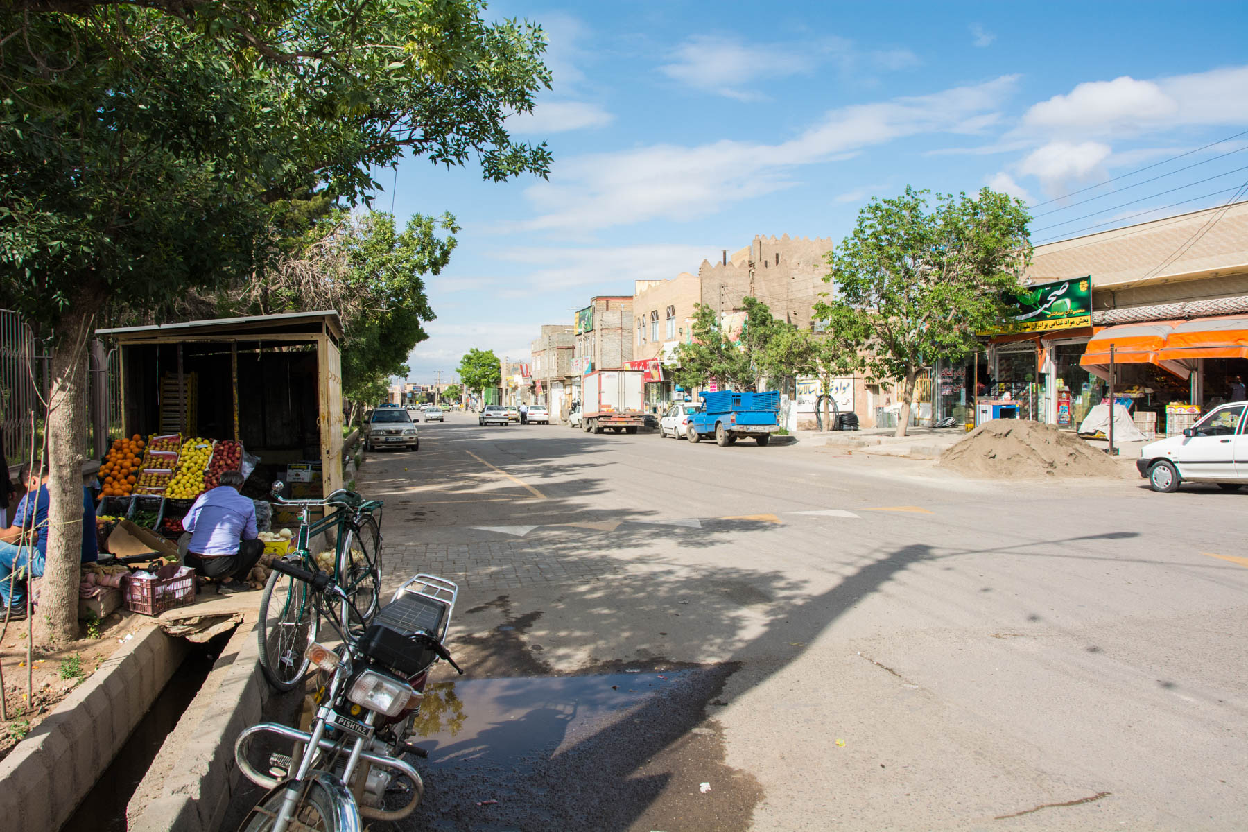 From Mashhad to Torbat-e Jam: The taxi drop-off point in the center of Torbat-e Jam, Iran.