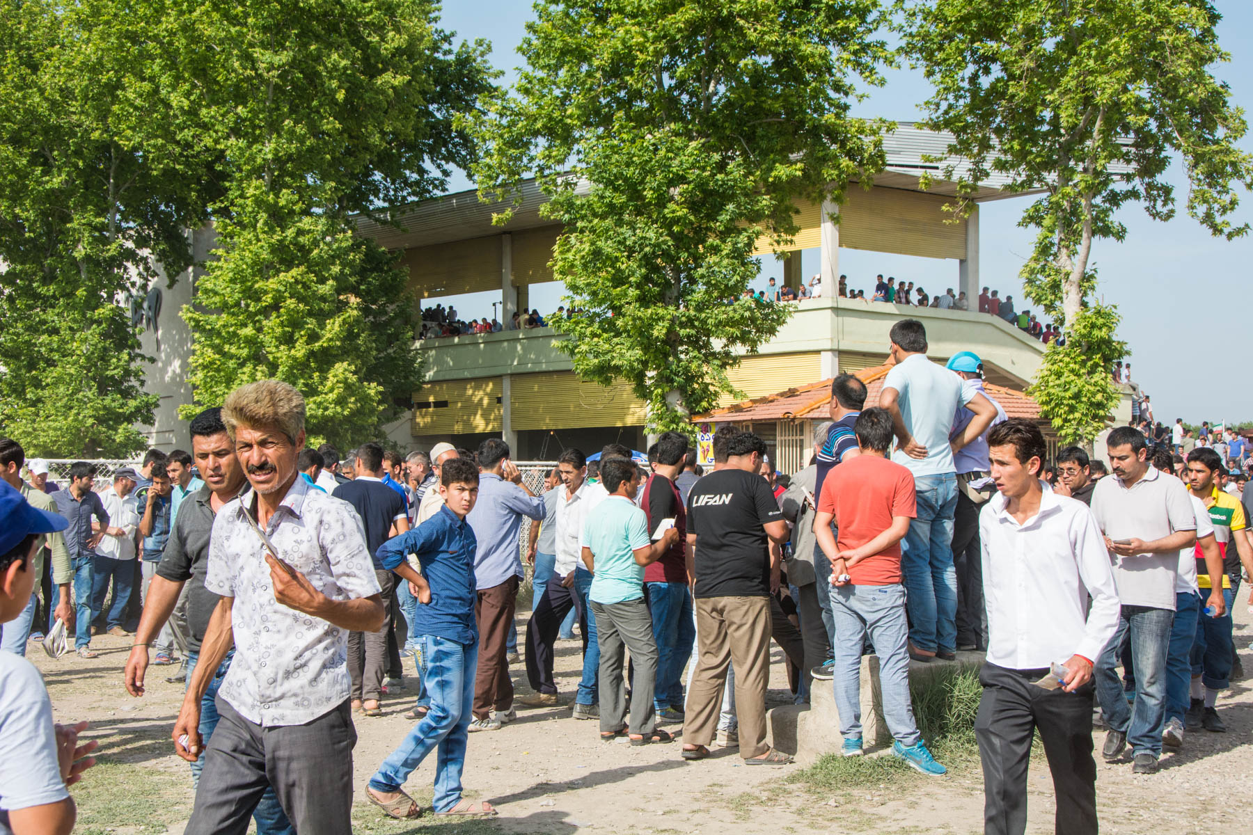 People of all ethnicities coming out to watch the horse races in Gonbad-e Kavus, Iran.