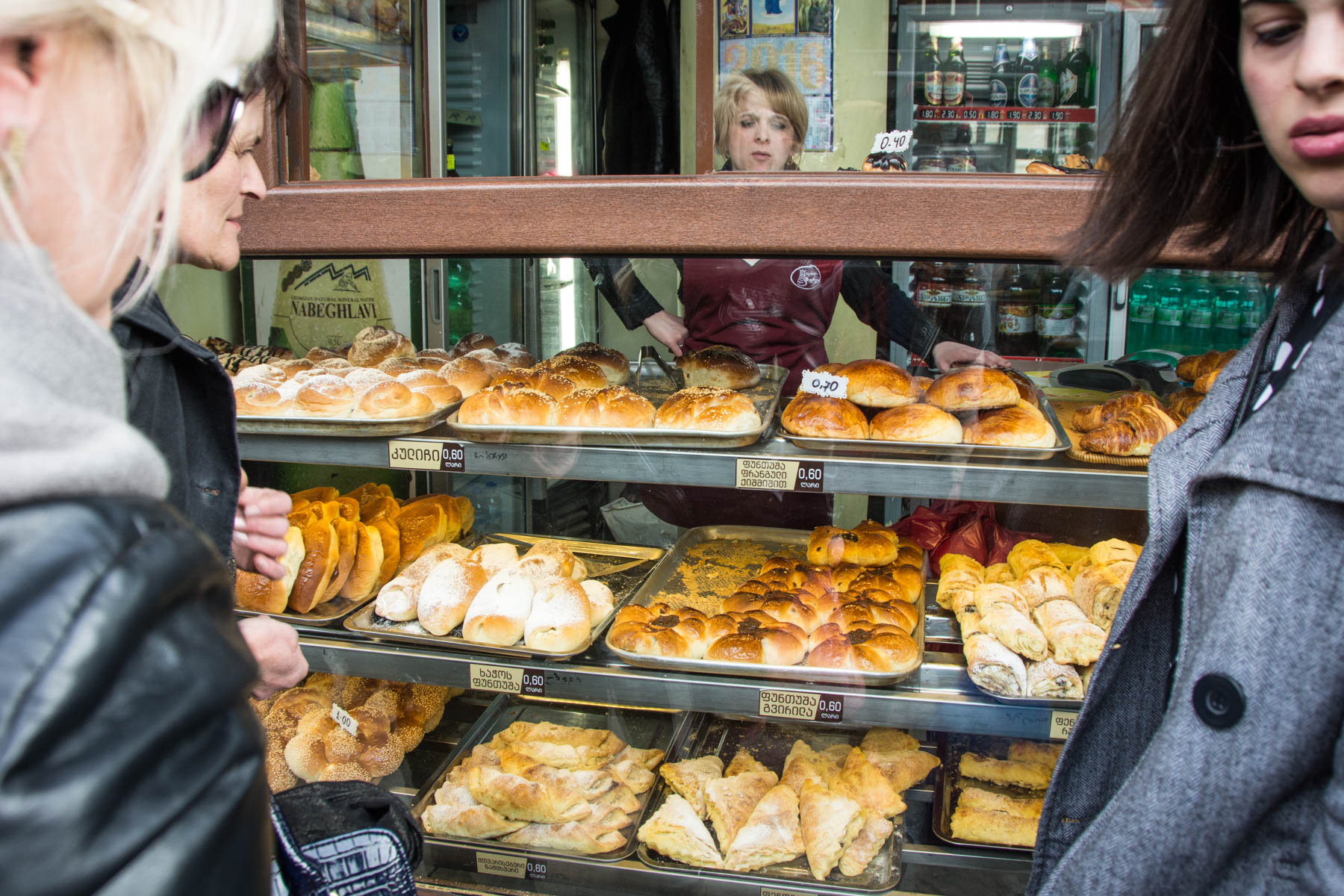 Bread on sale in Tbilisi, Georgia