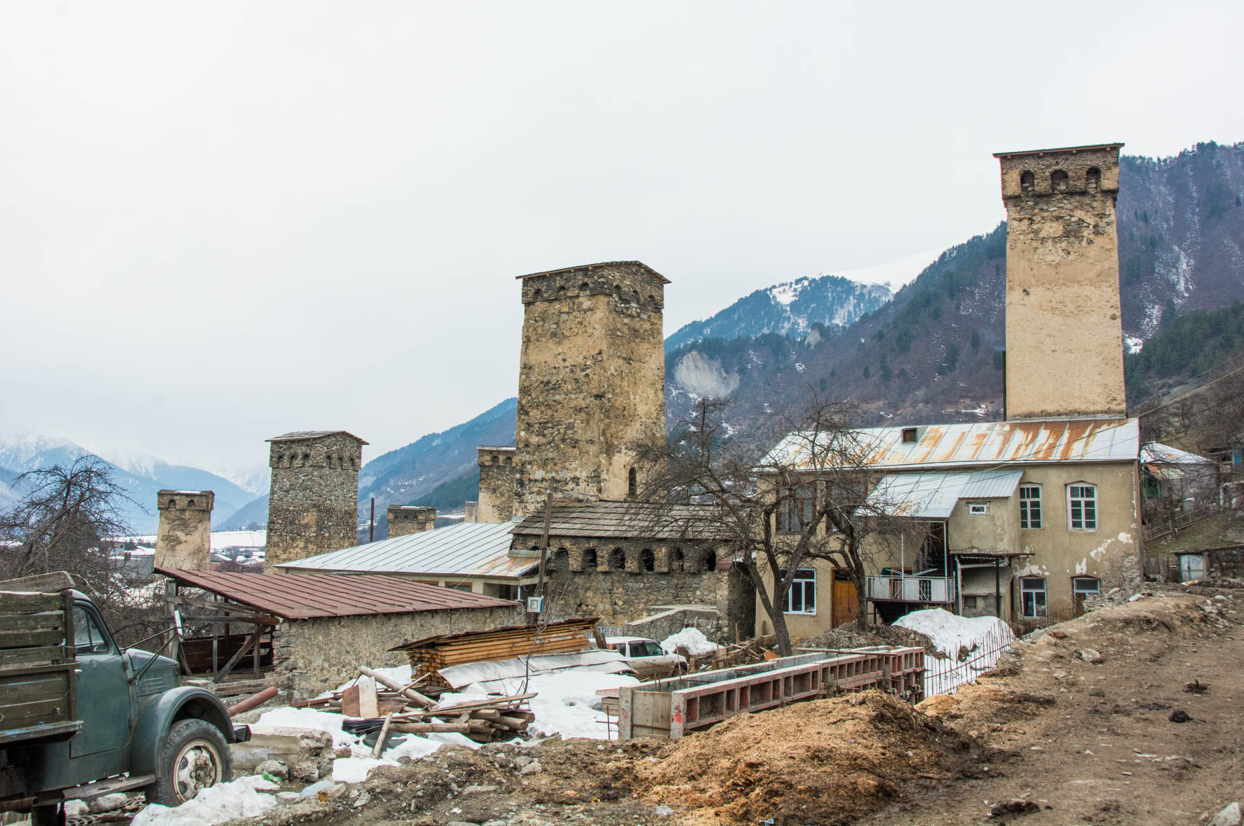 Svan towers in Svaneti, Georgia
