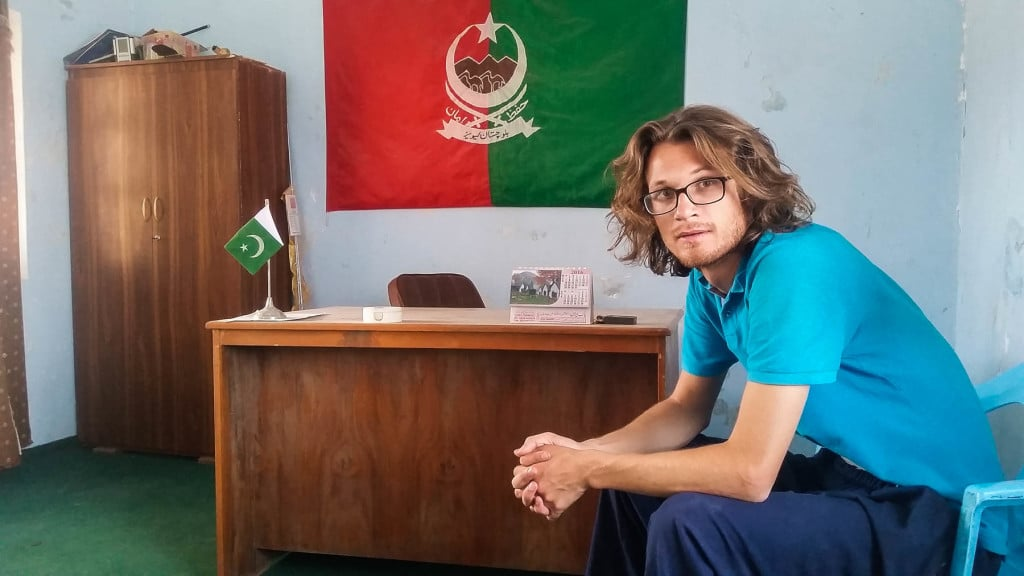 Waiting in the office at the Levies station in Balochistan, Pakistan
