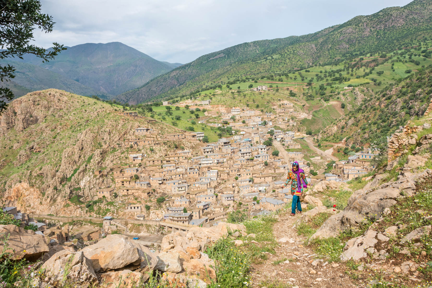 Exploring the mountain village of Palangan in Kurdistan province, Iran