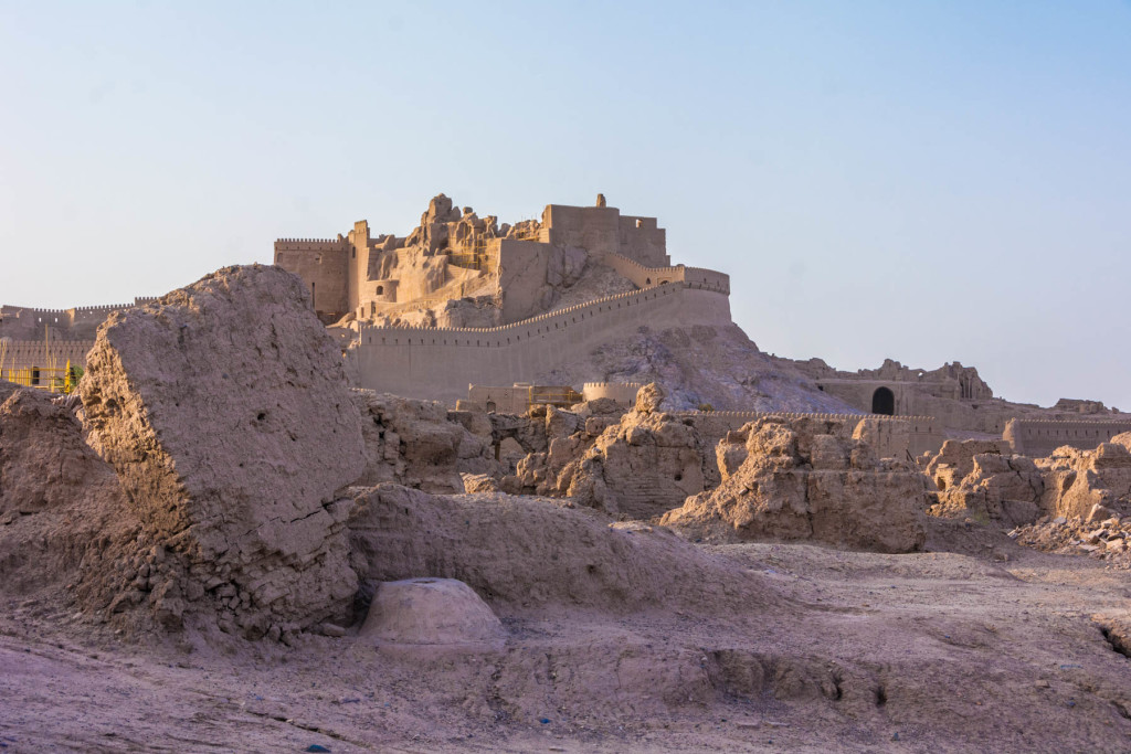 The Arg-e Bam citadel after the earthquake, taken in 2016.