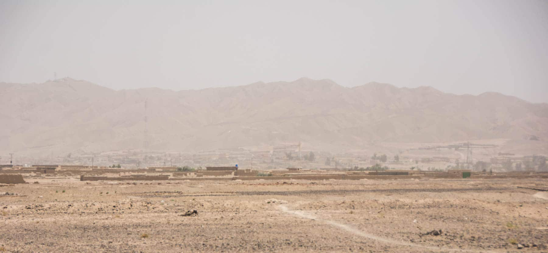 Getting close to the border with Afghanistan in Pakistan at Nushki
