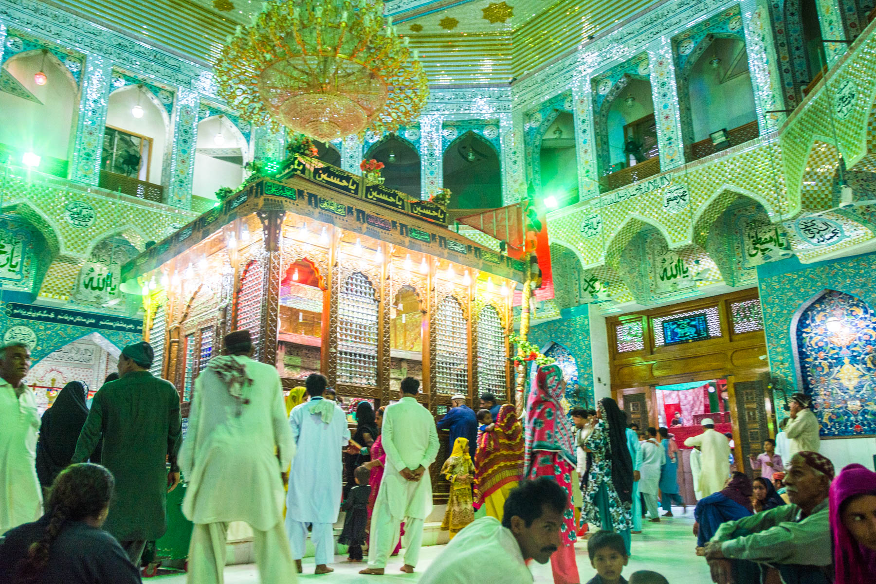 The Lal Shahbaz Qalandar shrine in Sehwan, Pakistan