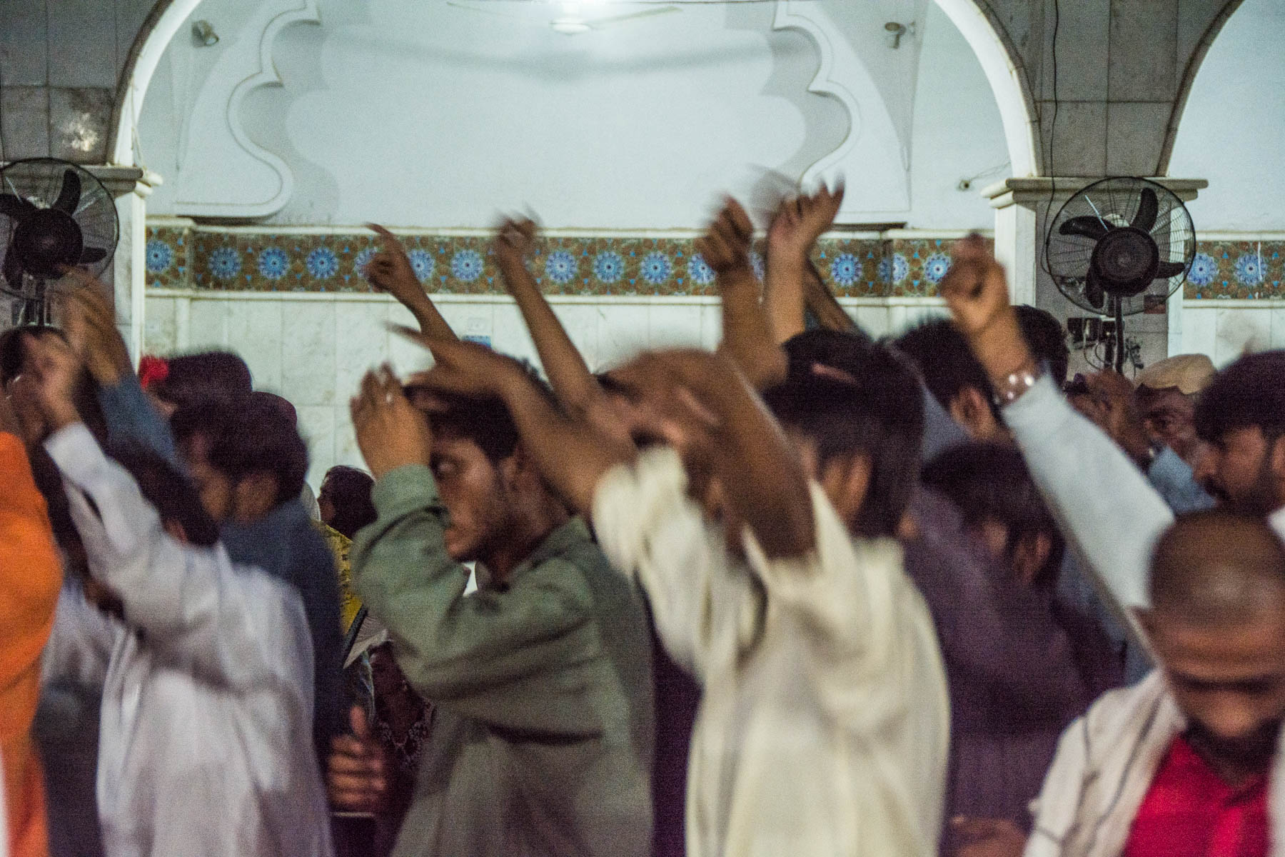 Sufi dancers at the Lal Shahbaz Qalandar shrine in Sehwan, Pakistan during Ramadan