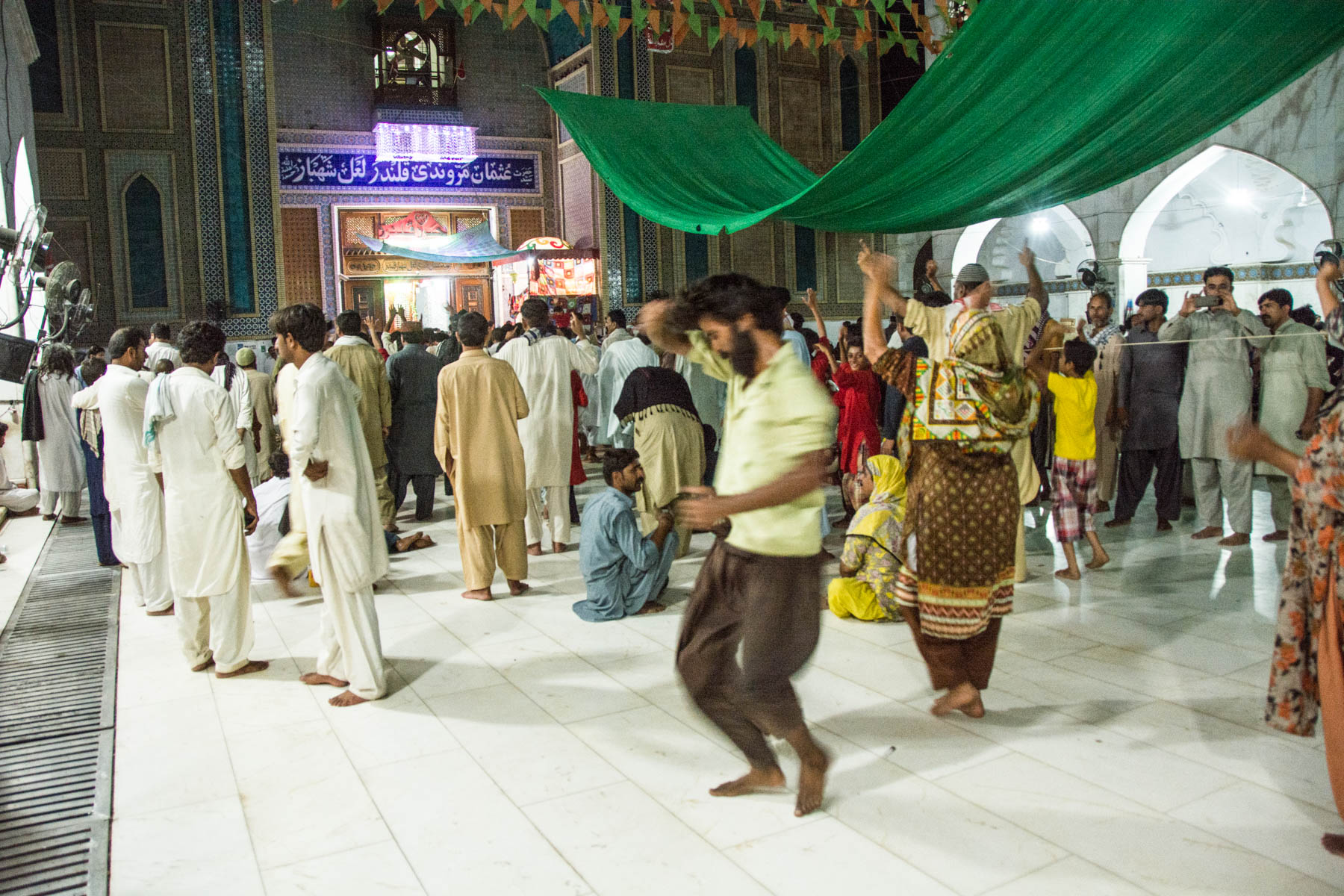 Sufi dancing at the Lal Shahbaz Qalandar shrine in Sehwan, Pakistan