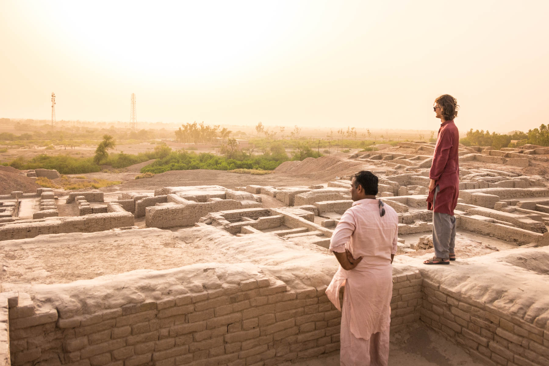 Looking out at the view of Moenjodaro in Pakistan