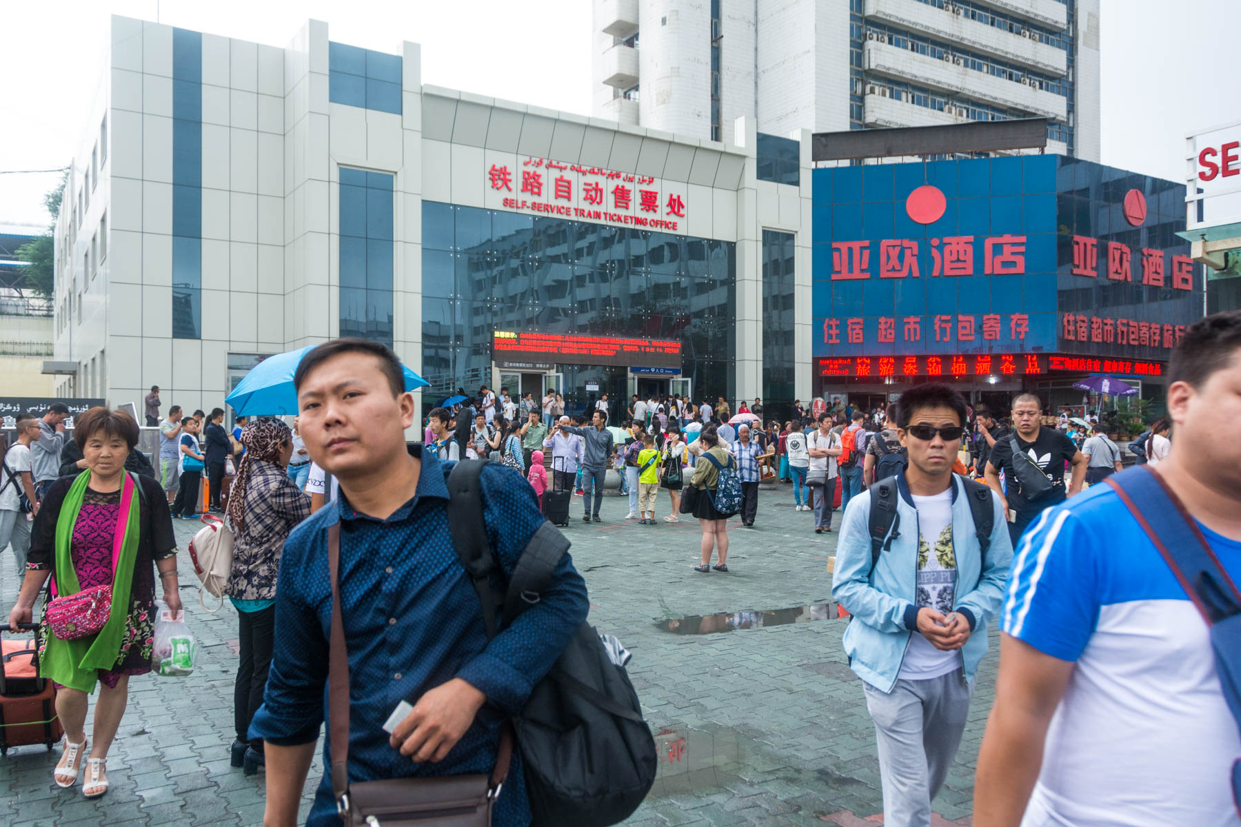 Why we didn't like traveling in Xinjiang, China: the billion and one security checkpoints.