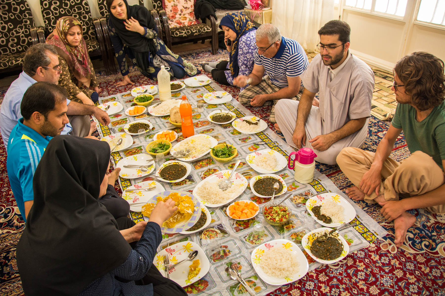 Lunch with a family in Shush, Iran