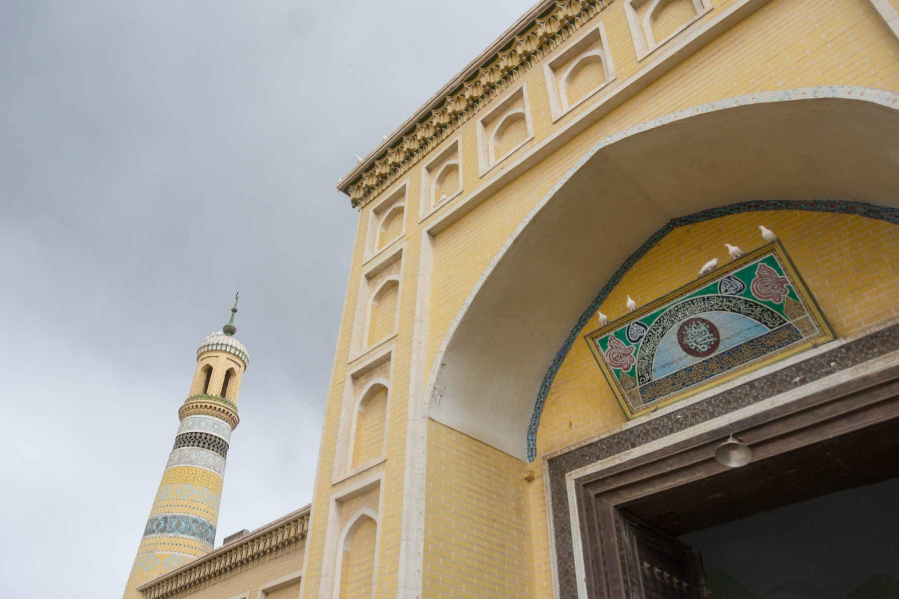 The Id Kah mosque is the biggest in Xinjiang. Unfortunately it costs 45 RMB to get in.