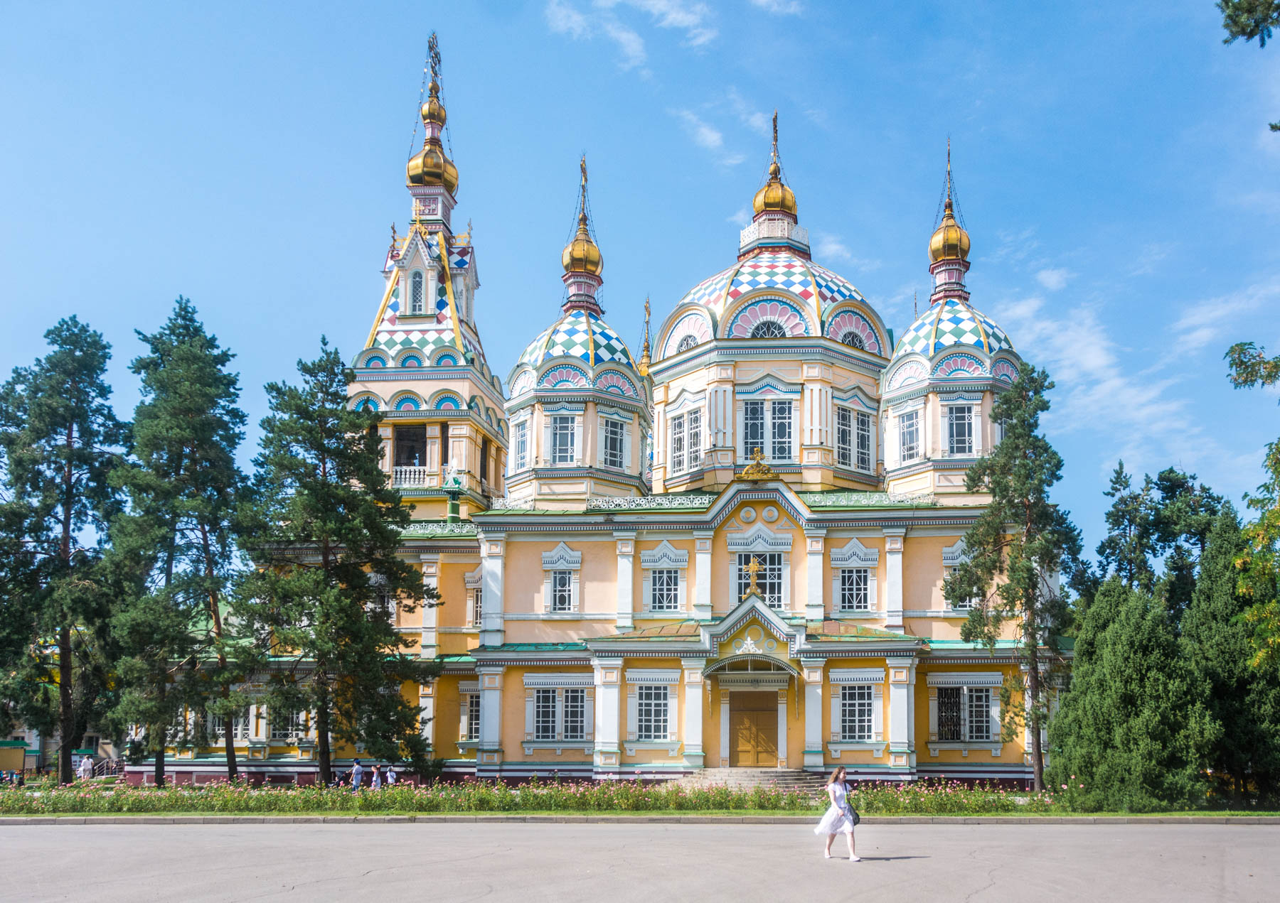 The wooden Zenkov Cathedral in Almaty, Kazakhstan - Lost With Purpose