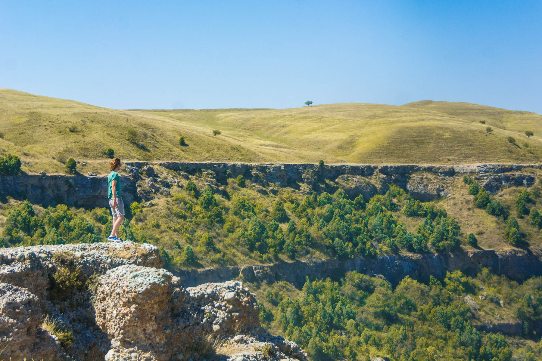 Looking over the landscape at Aksu park in Kazakhstan - Lost With Purpose