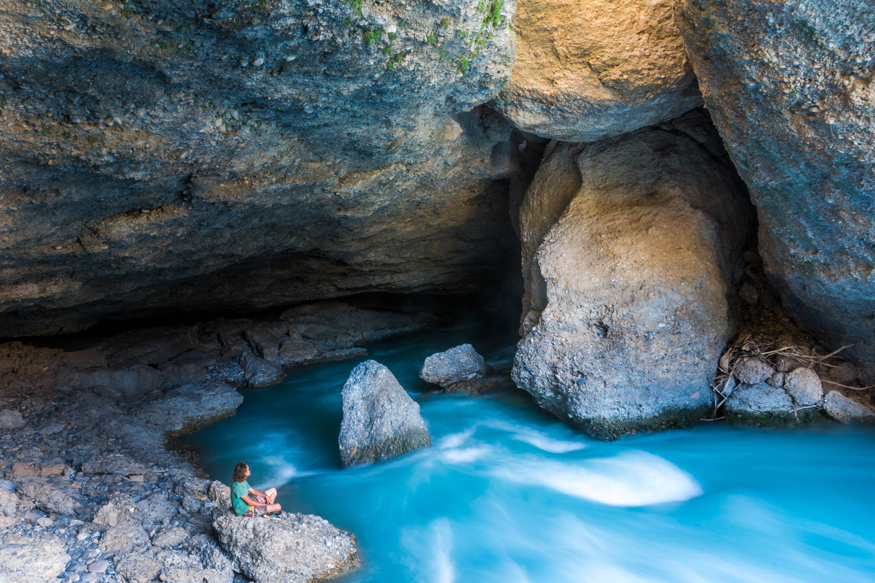 A cave along the Aksu river in Kazakhstan - Lost With Purpose