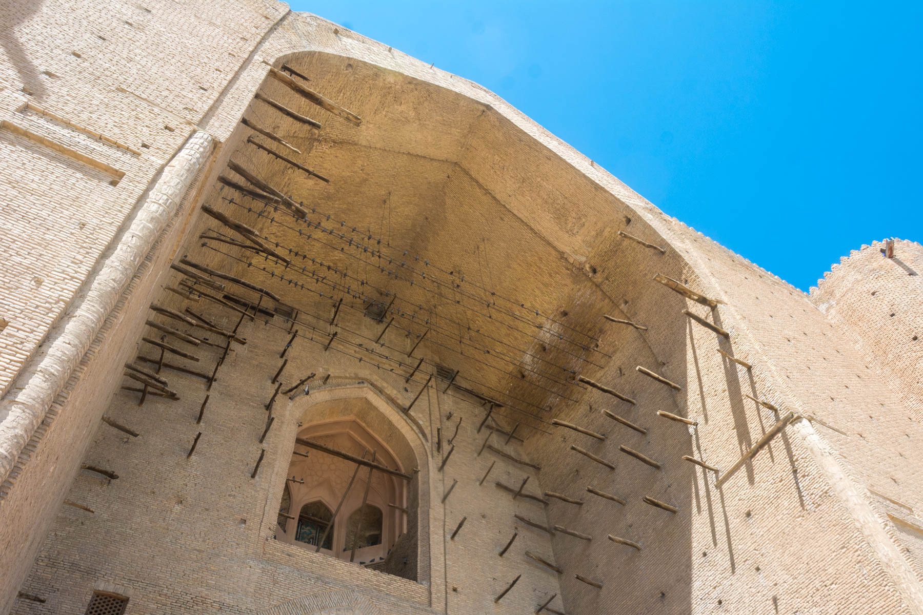 The entrance to the Khoja Ahmed Yasawi mausoleum in Turkestan, Kazakhstan - Lost With Purpose