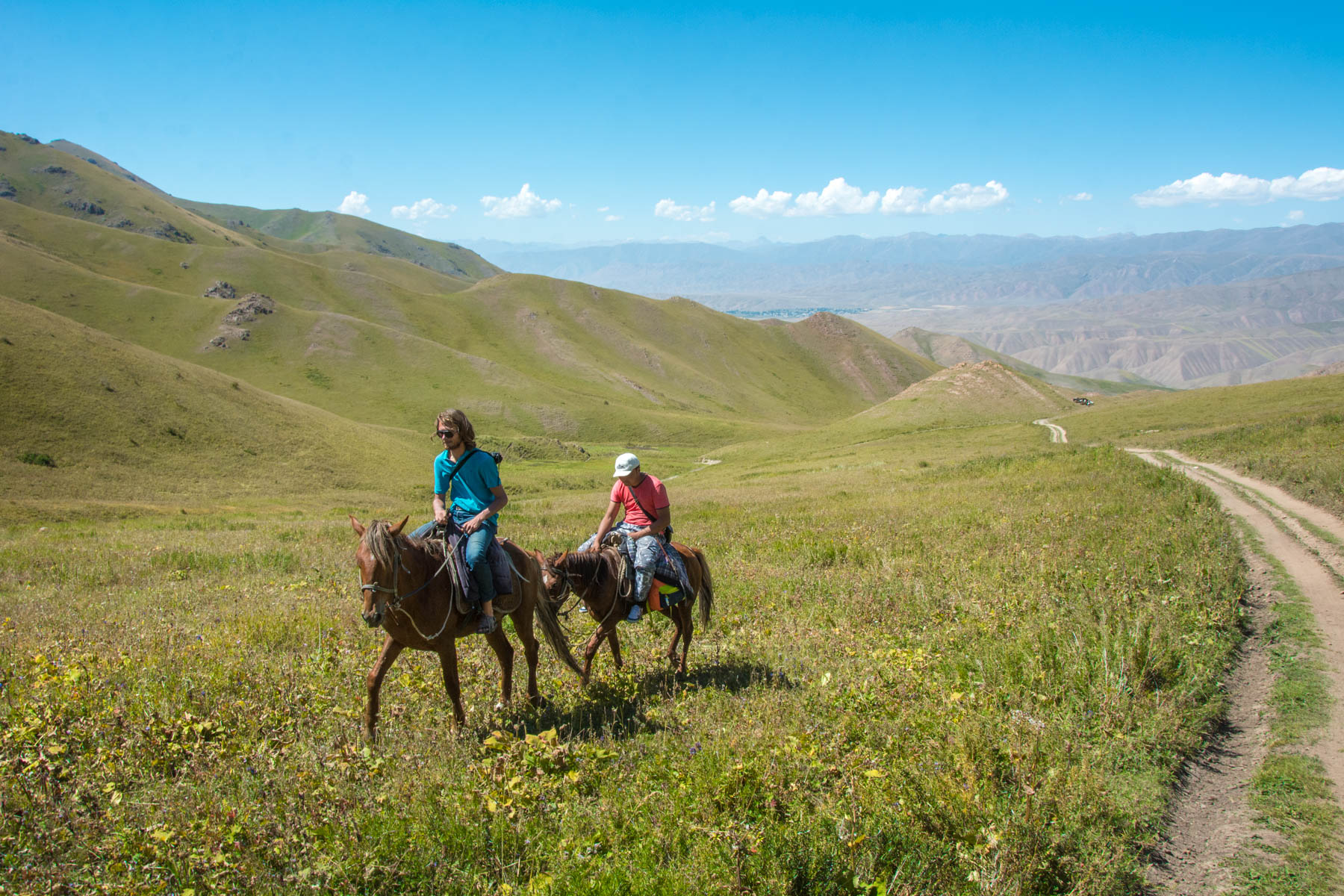 Rolling deep on horseback during a rather trying horse trek to Song Kul lake - Lost With Purpose
