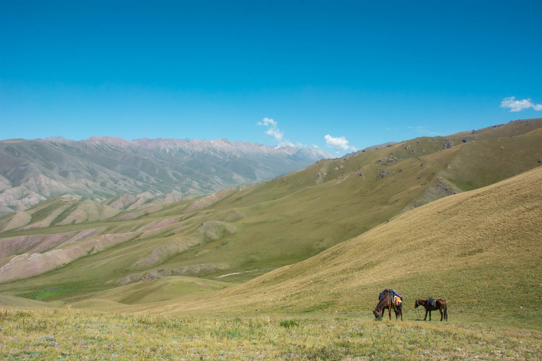 Mountains near Kyzart pass in Kyrgyzstan - Lost With Purpose