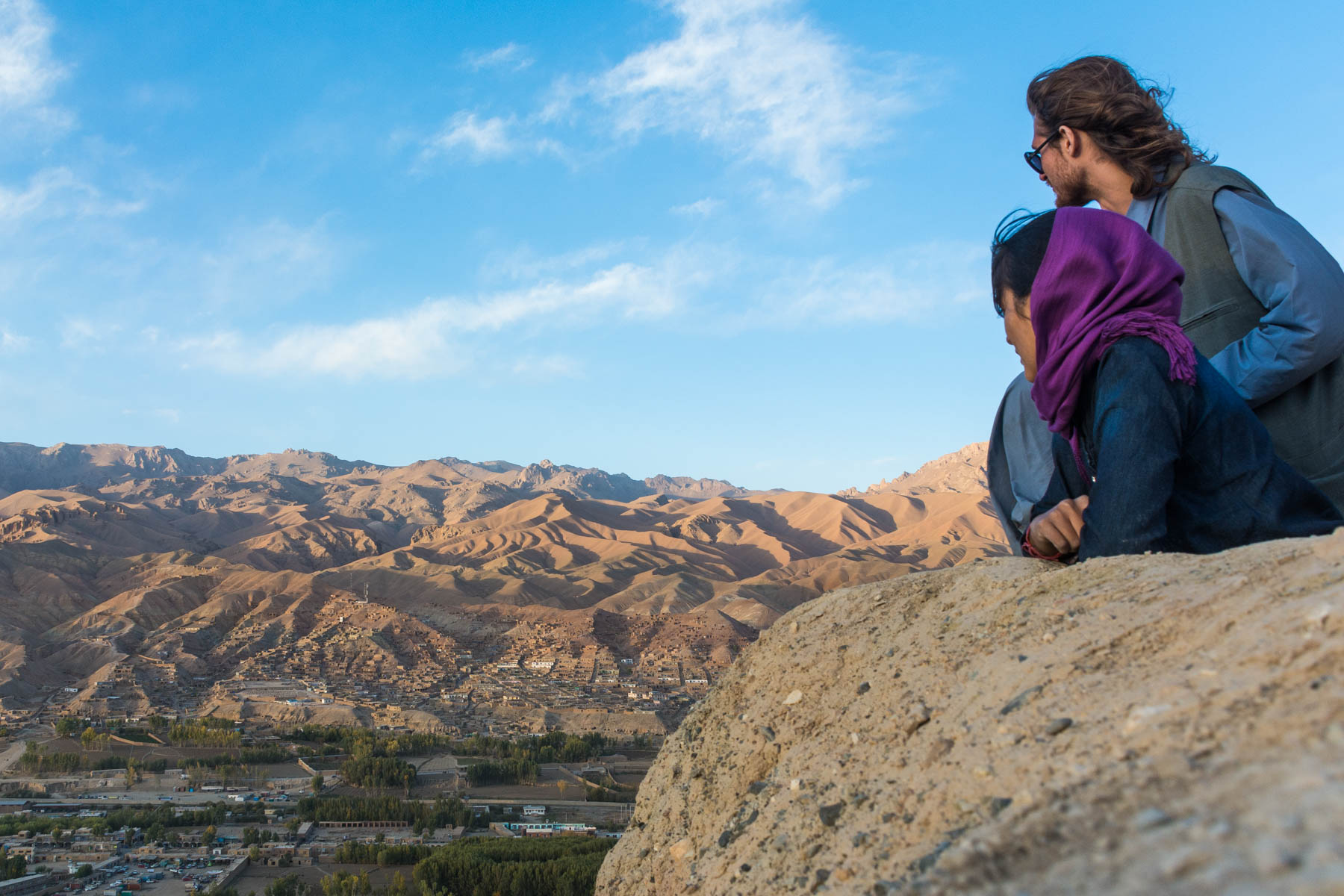 Overlooking Bamyan, Afghanistan at sunset - Lost With Purpose