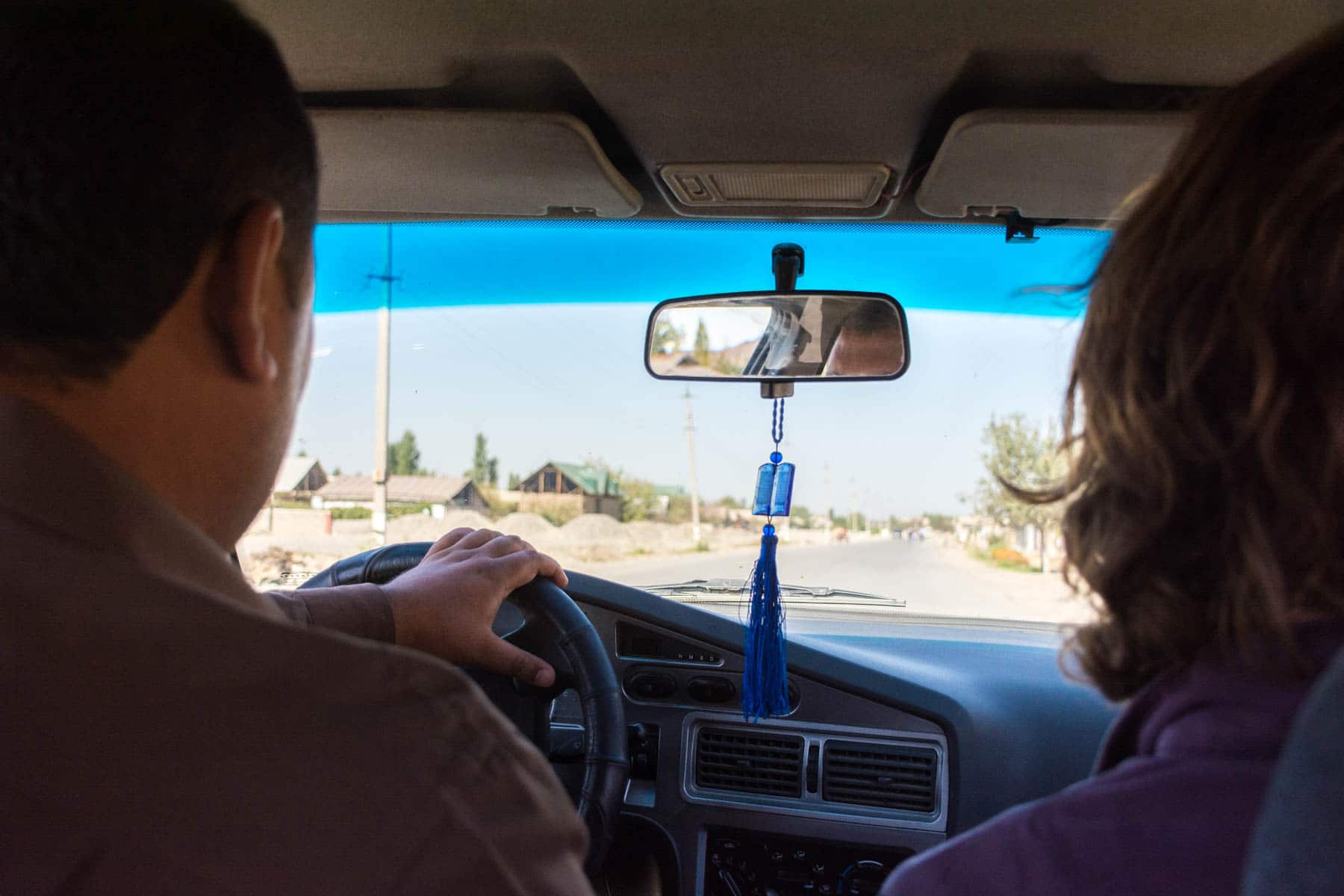 Taxi to Andijan from the Kyrgyzstan - Uzbekistan border crossing at Dostyk - Lost With Purpose