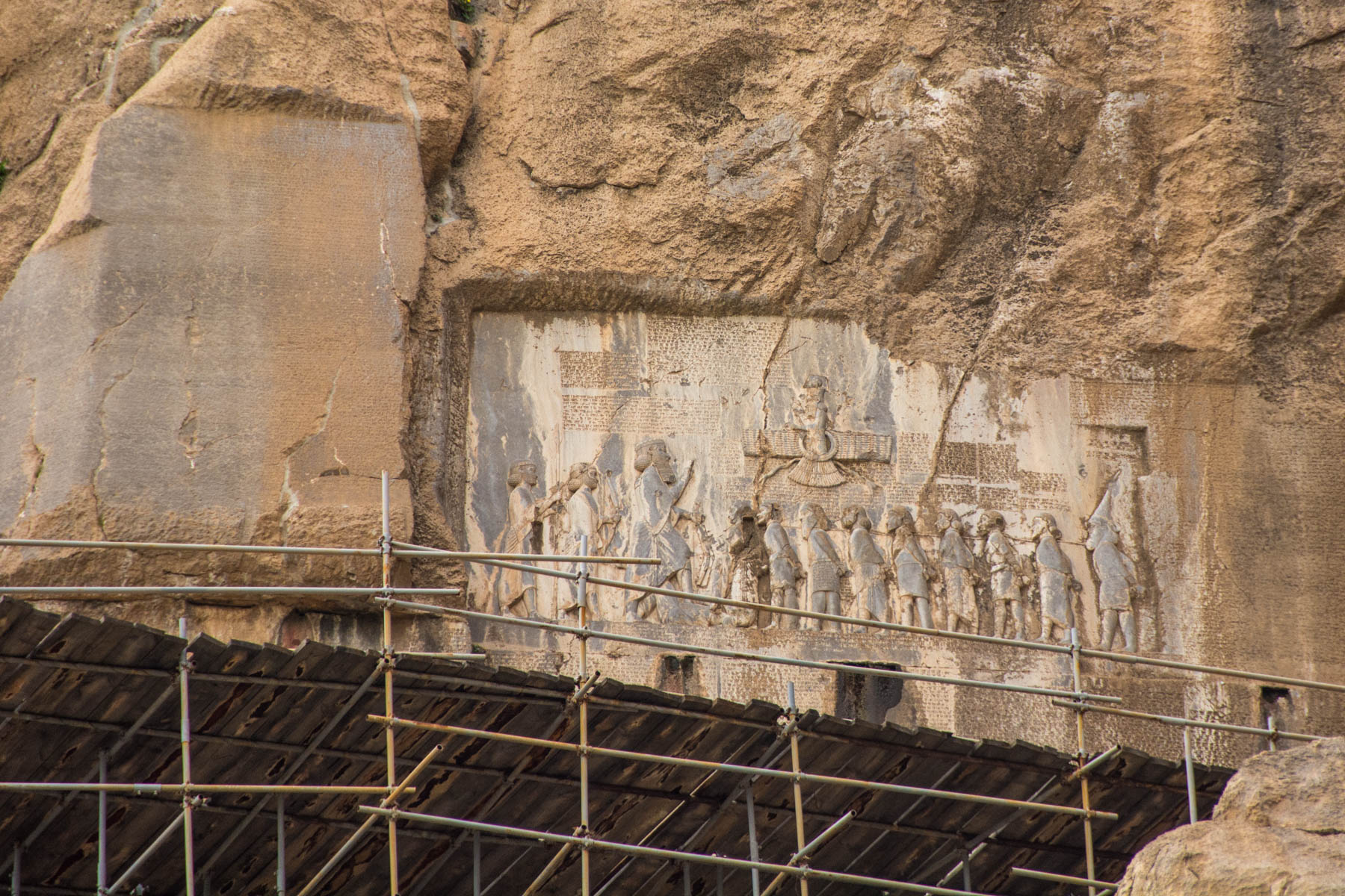 The bas reliefs at Bisotun in Iran - Lost With Purpose