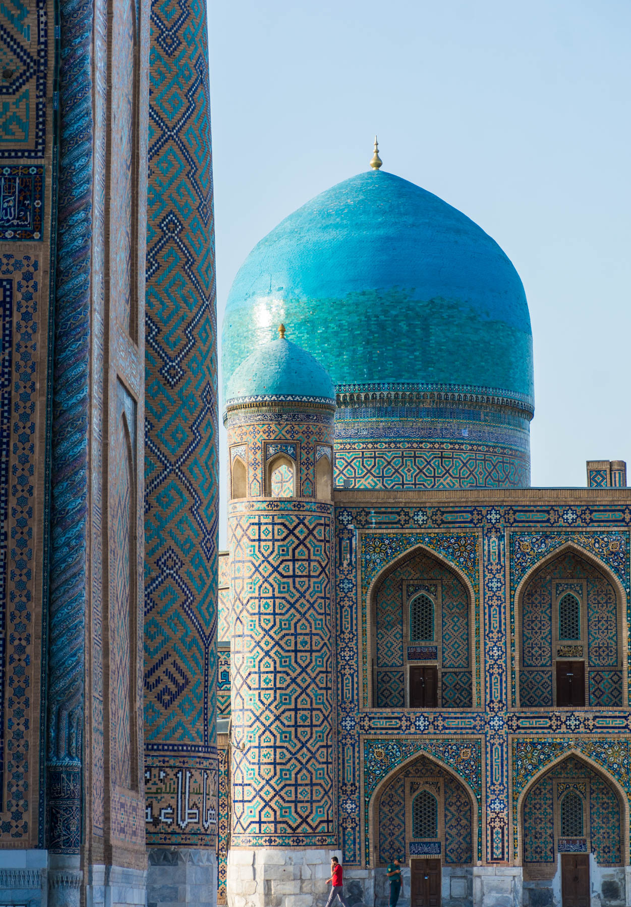 The Registan in Samarkand with an Uzbek guard walking around - Lost With Purpose