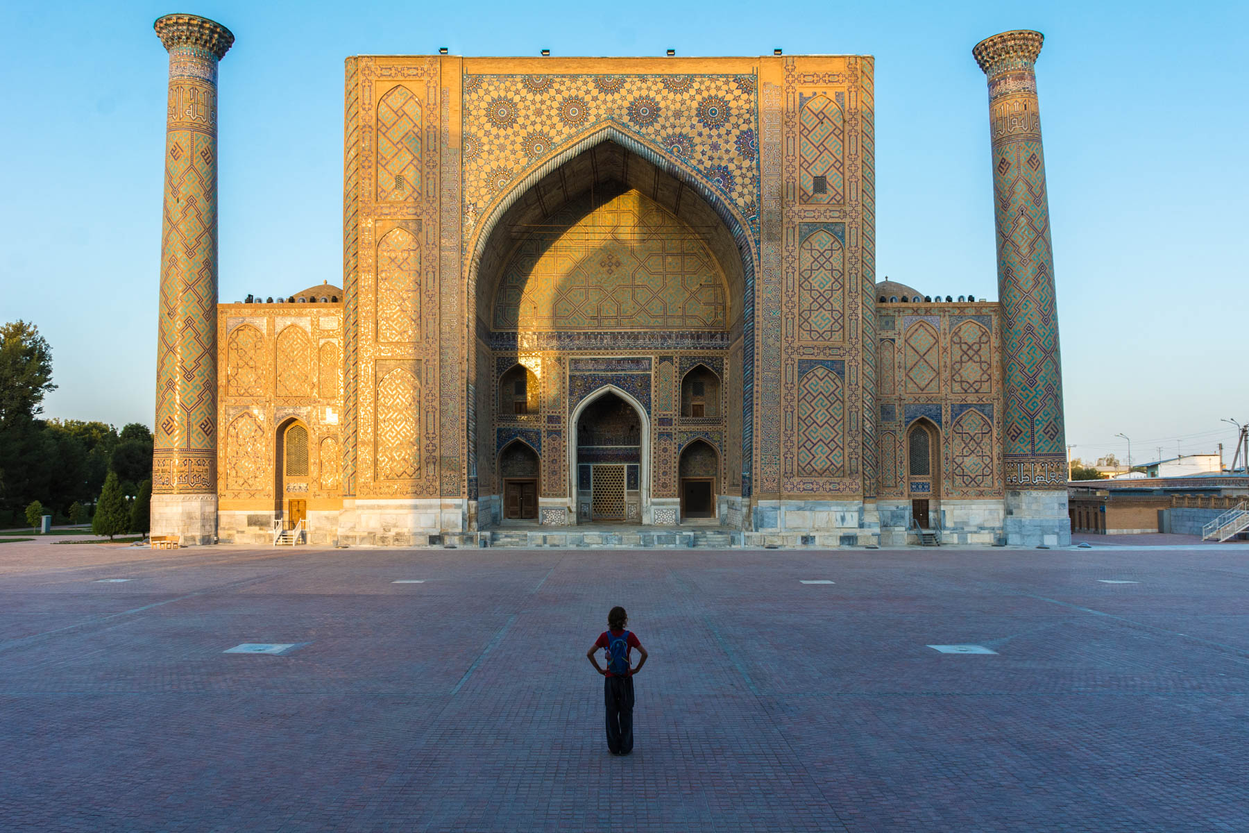 Why you need to see Uzbekistan at sunrise - No crowds at the Registan - Lost With Purpose