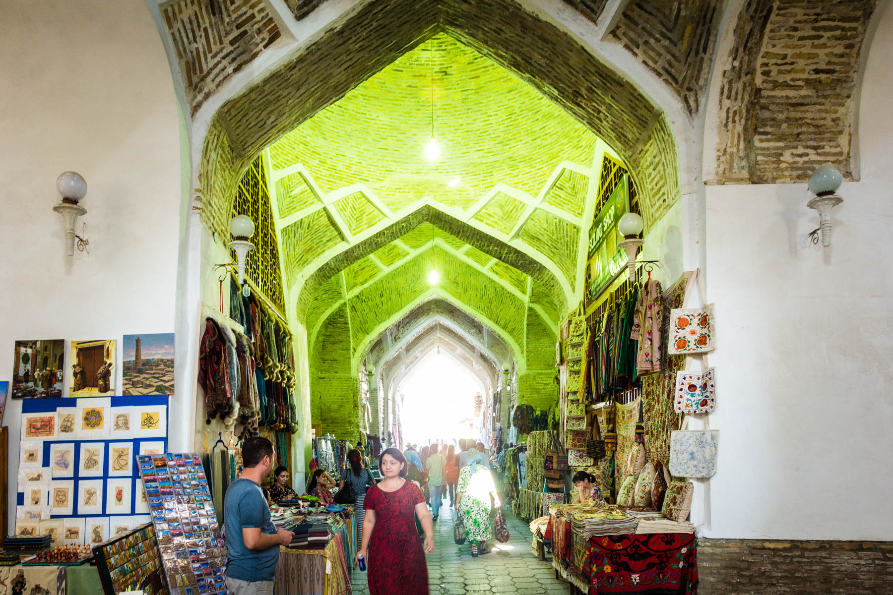 Why you need to see Uzbekistan at sunrise - Bukhara's souvenir bazaar during the day - Lost With Purpose