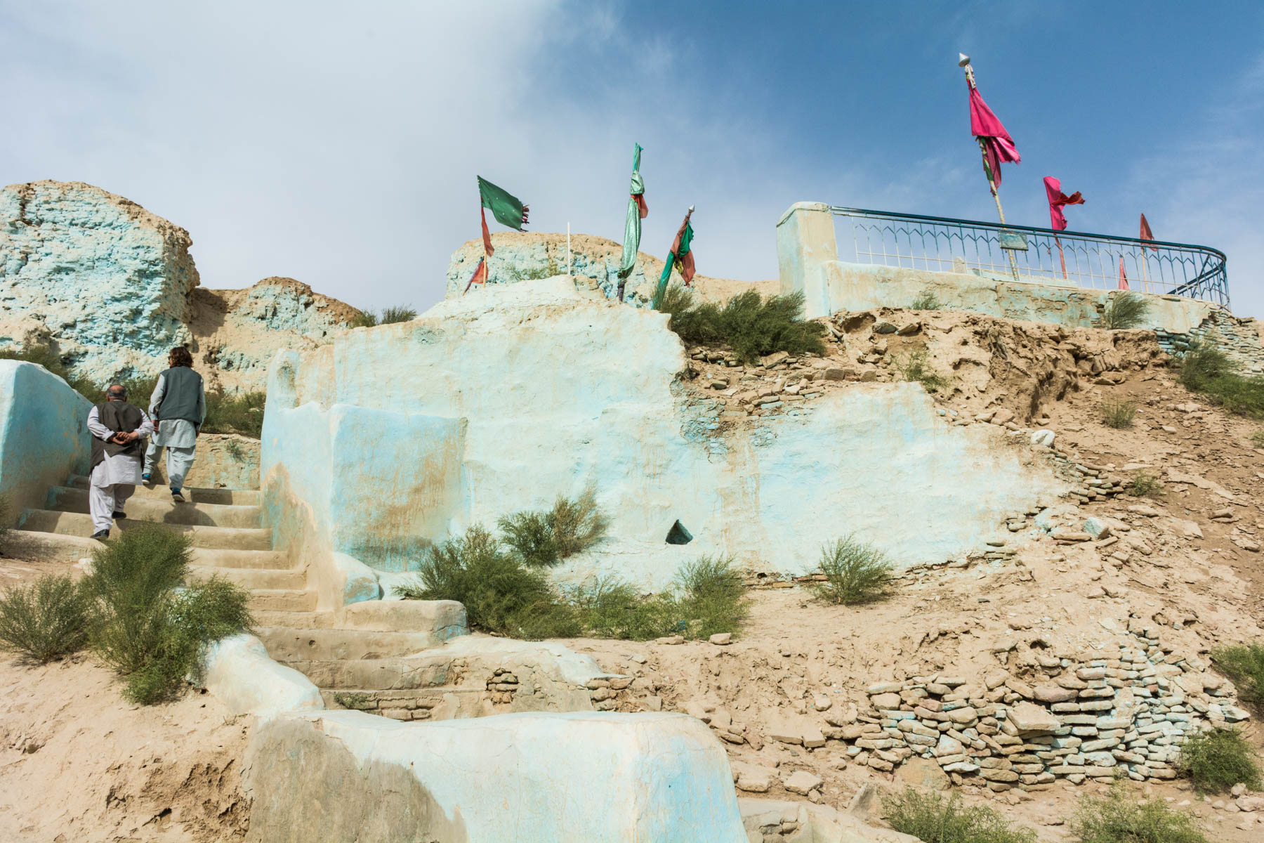 A shrine inside the walls of Old Balkh, Afghanistan - Lost With Purpose