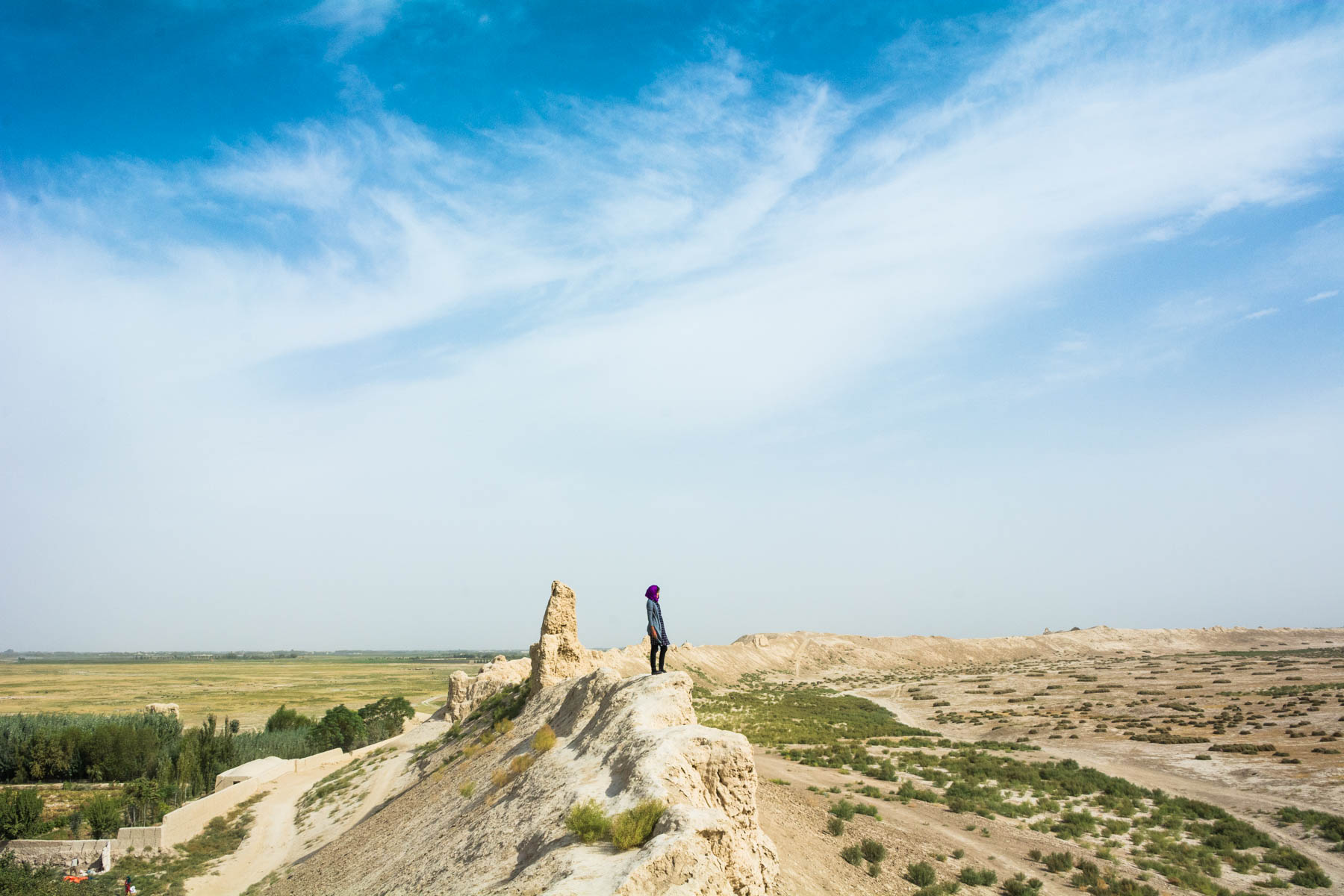 Standing atop the ruins of walls in Old Balkh, Afghanistan - Lost With Purpose