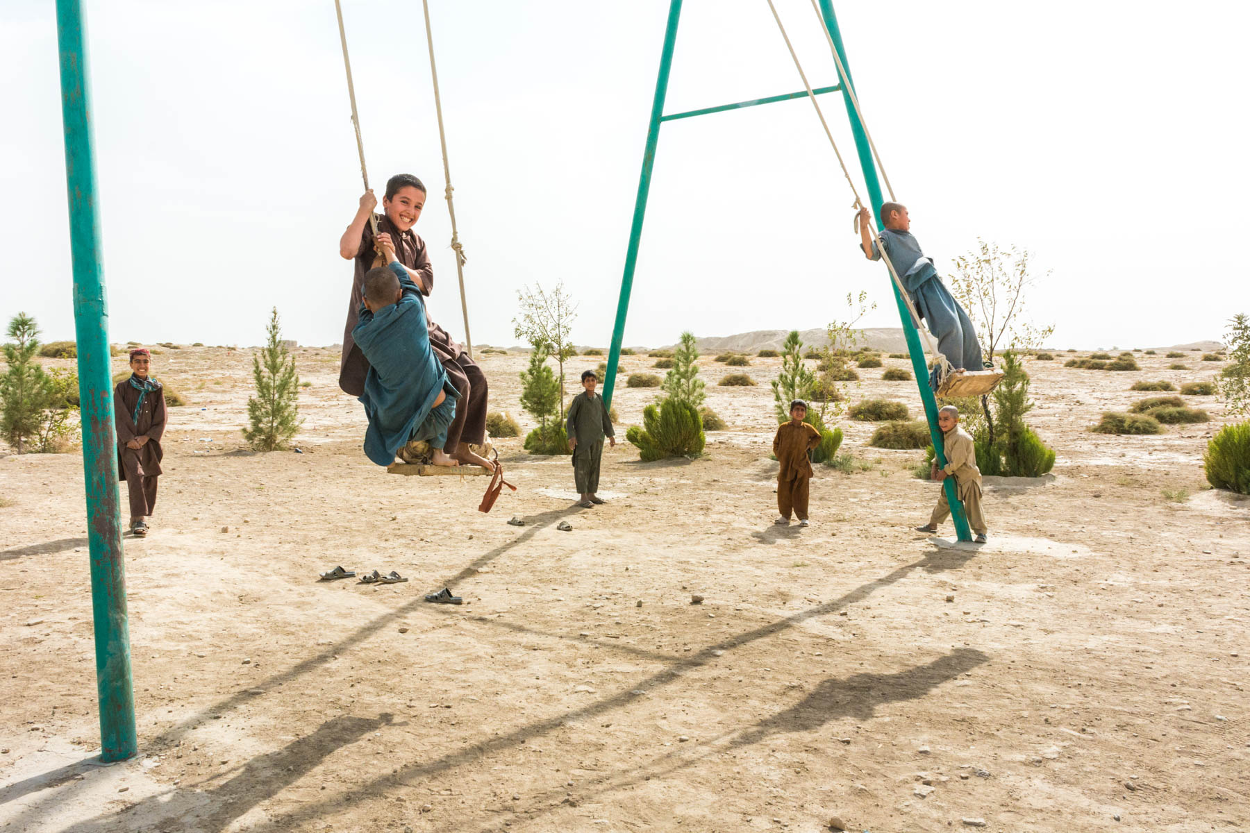 Children swinging in Old Balkh, Afghanistan - Lost With Purpose