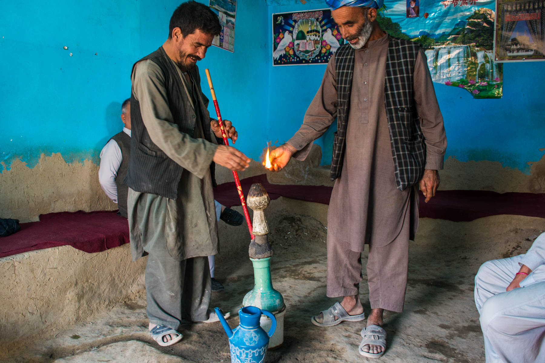 Lighting the bong in Balkh, Afghanistan - Lost With Purpose
