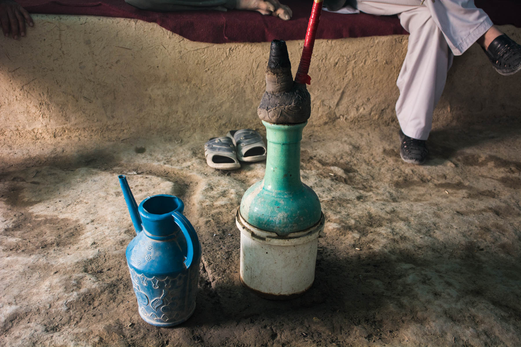 A homemade bong in Balkh, Afghanistan - Lost With Purpose