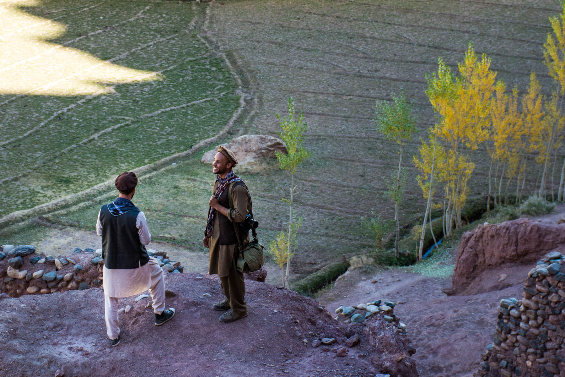 Tourists wearing Afghan traditional clothes in Bamiyan, Afghanistan - Lost With Purpose