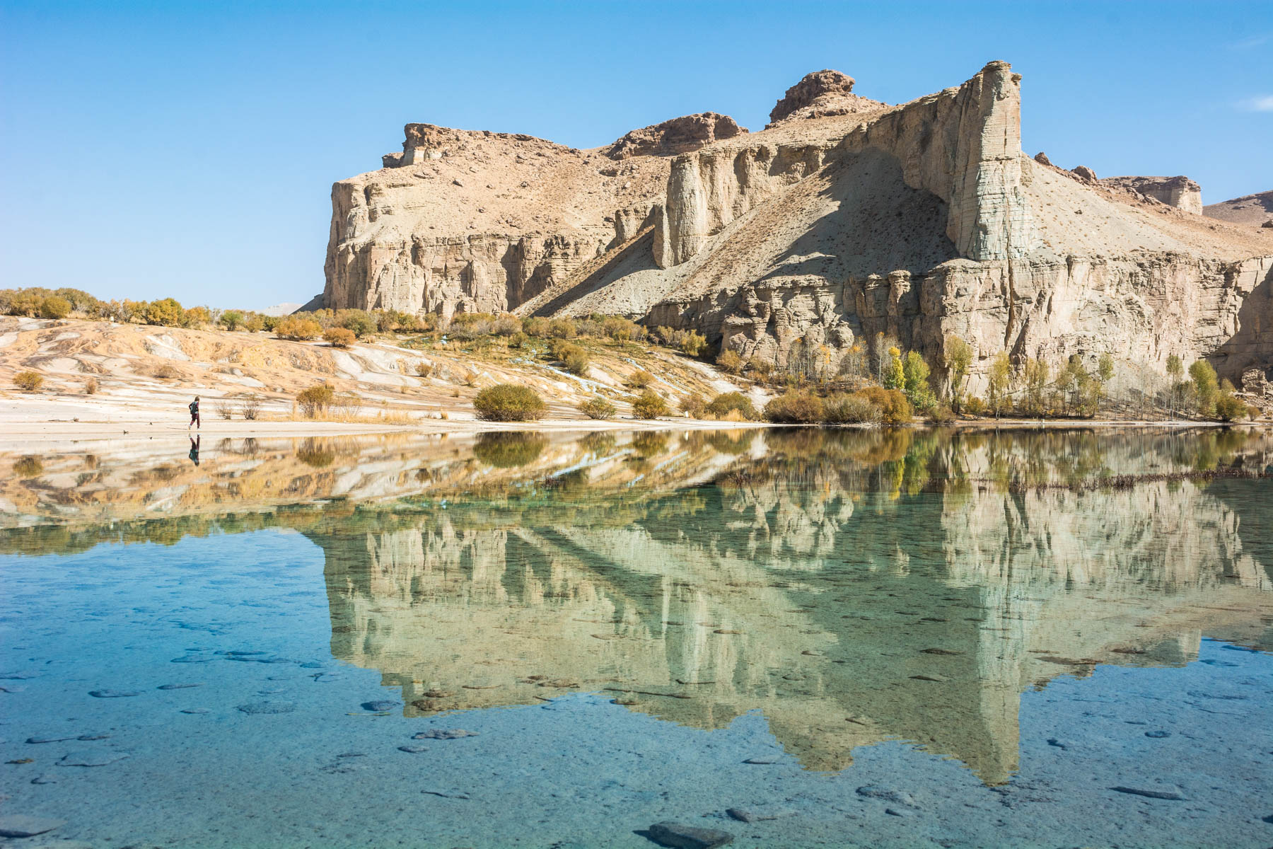 Stunning reflections in a lake at Band-e-Amir, Afghanistan - Lost With Purpose