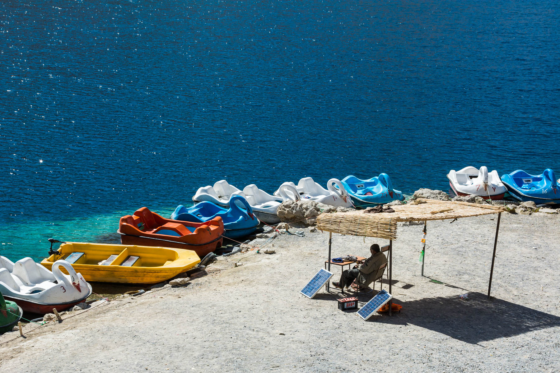 The famous swan paddle boats of Band-e-Amir, Afghanistan