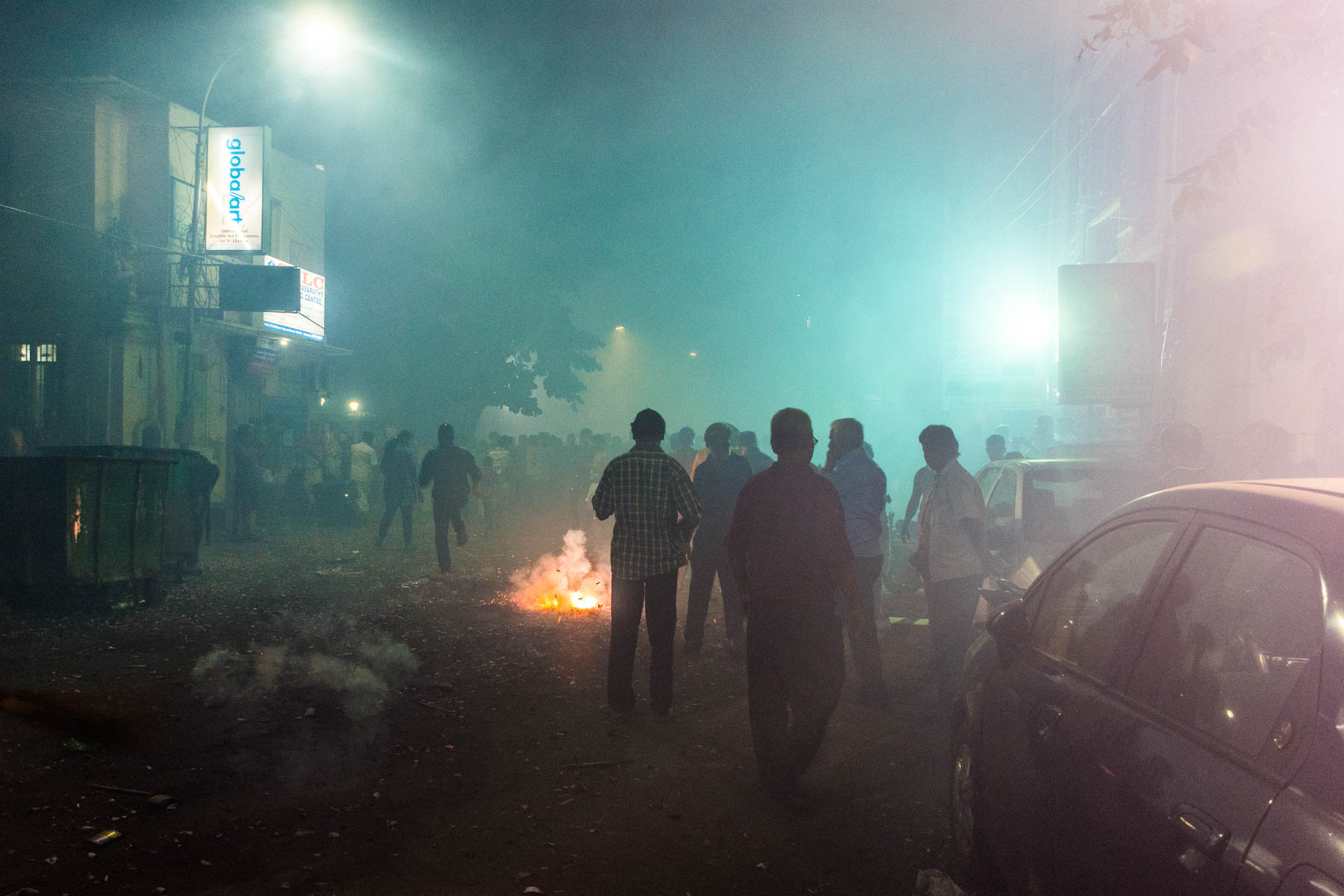 Entering the war zone that emerges while celebrating Diwali in Chennai, India - Lost With Purpose