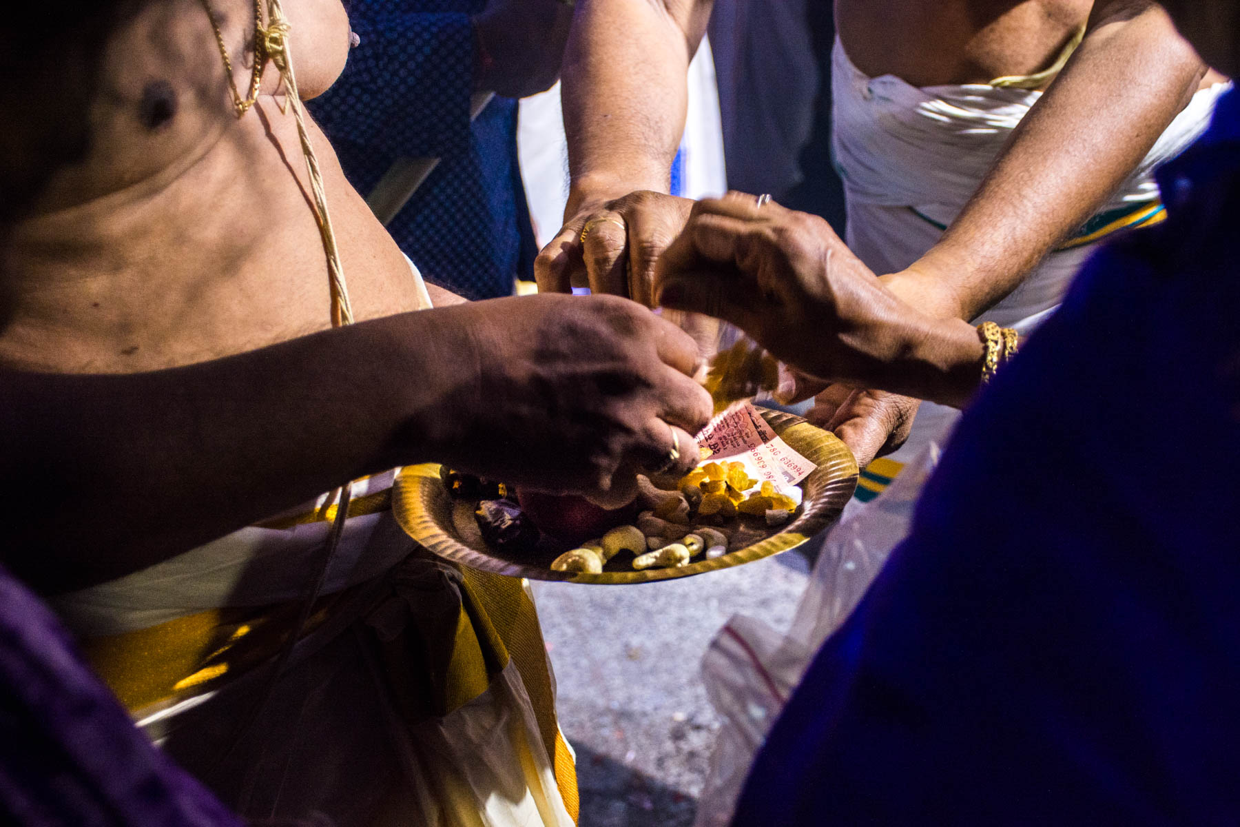 Offerings for Parthasarathy while celebrating Diwali in Chennai, India - Lost With Purpose